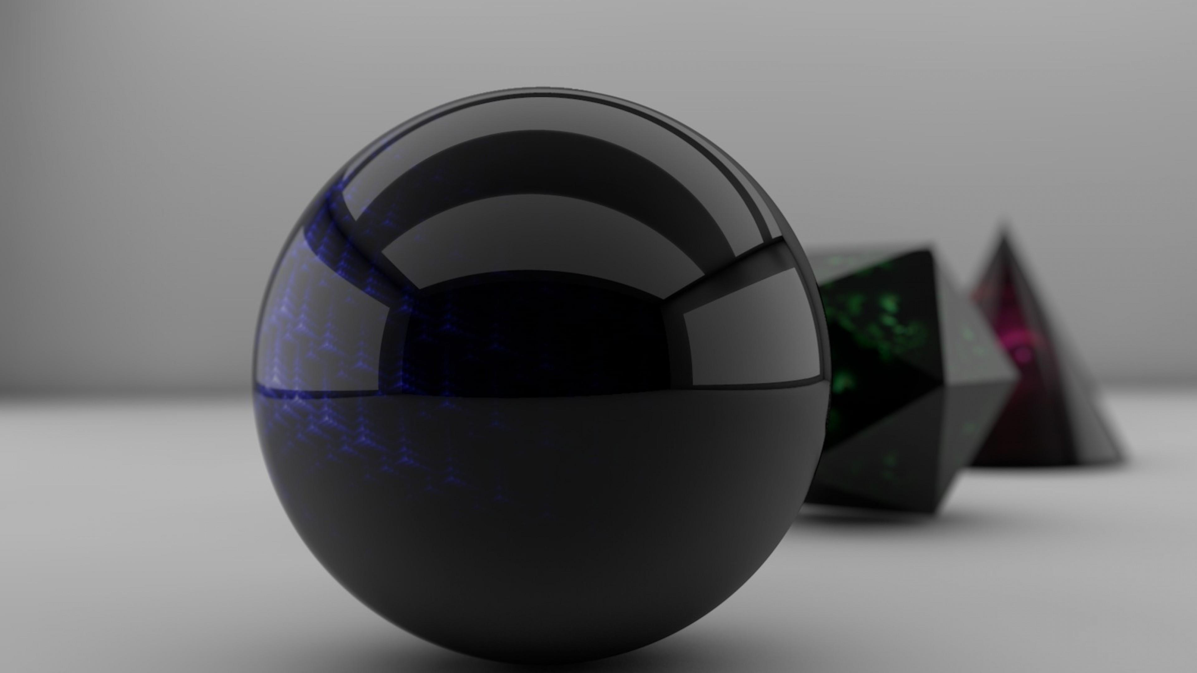 3D sphere wallpaper