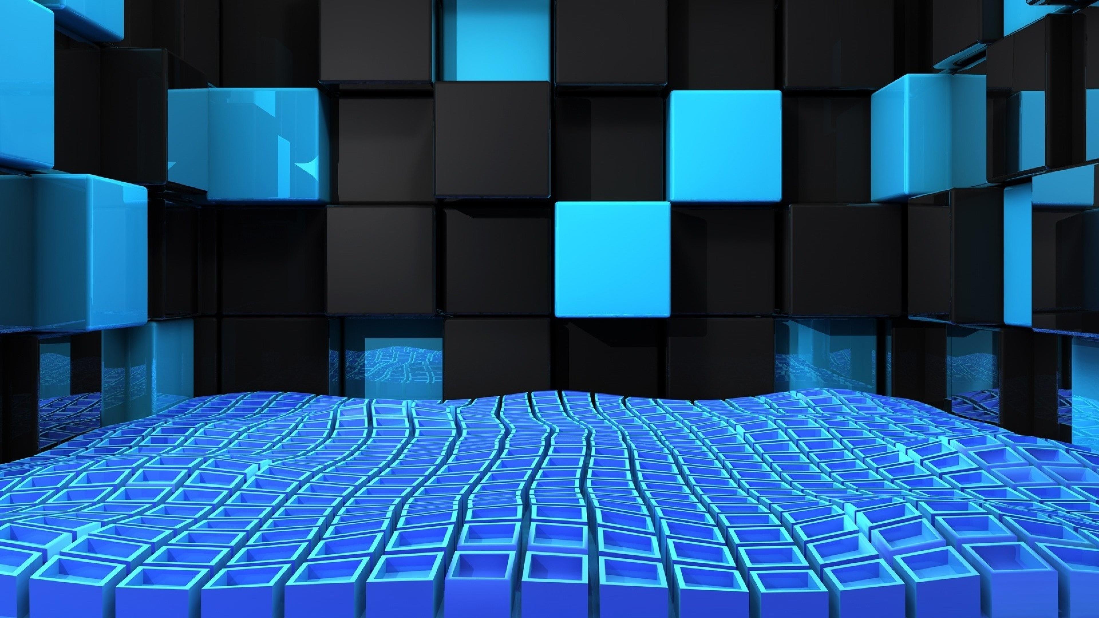 3D cubes computer graphics wallpaper