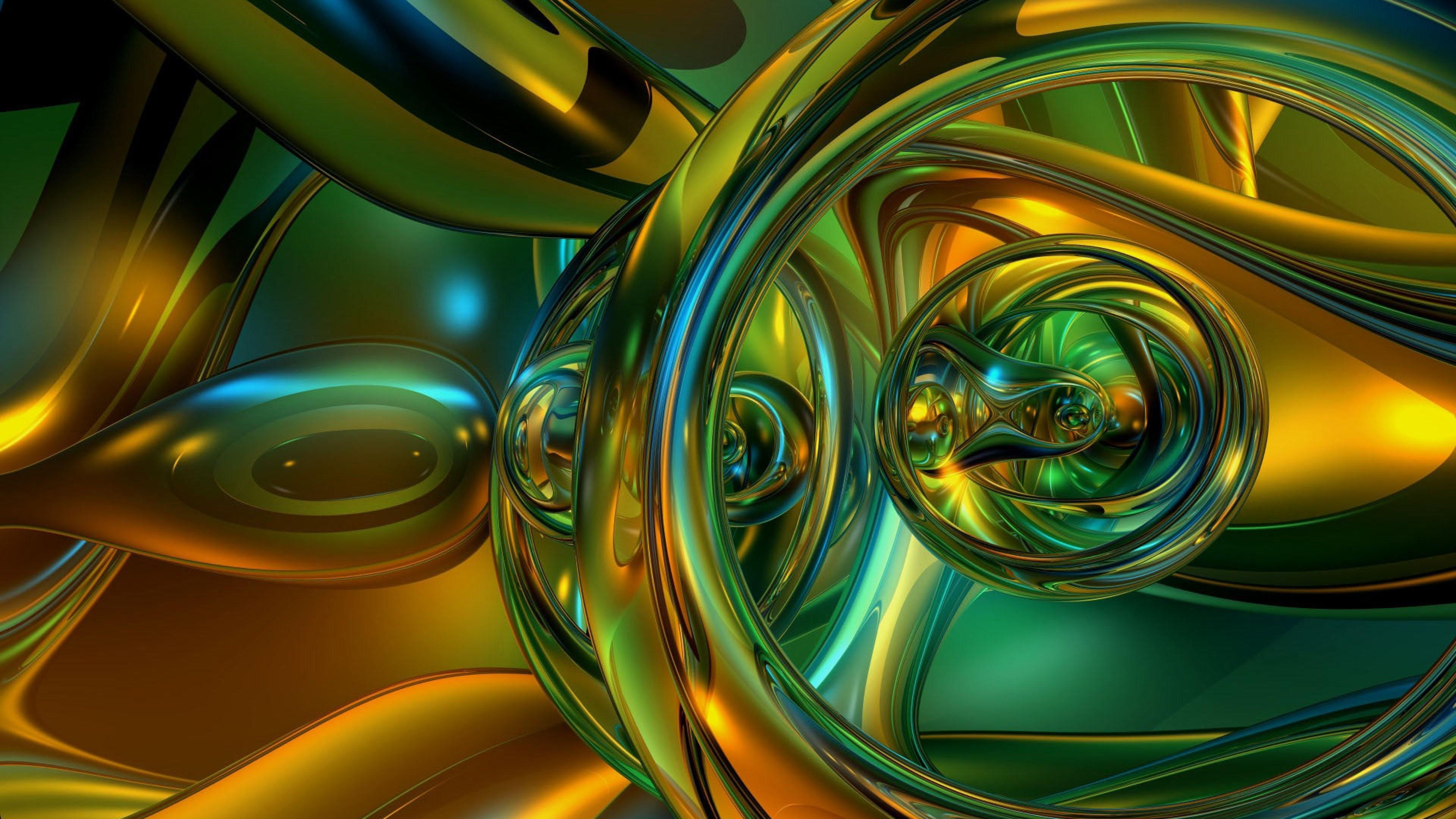 3D liquid digital art wallpaper