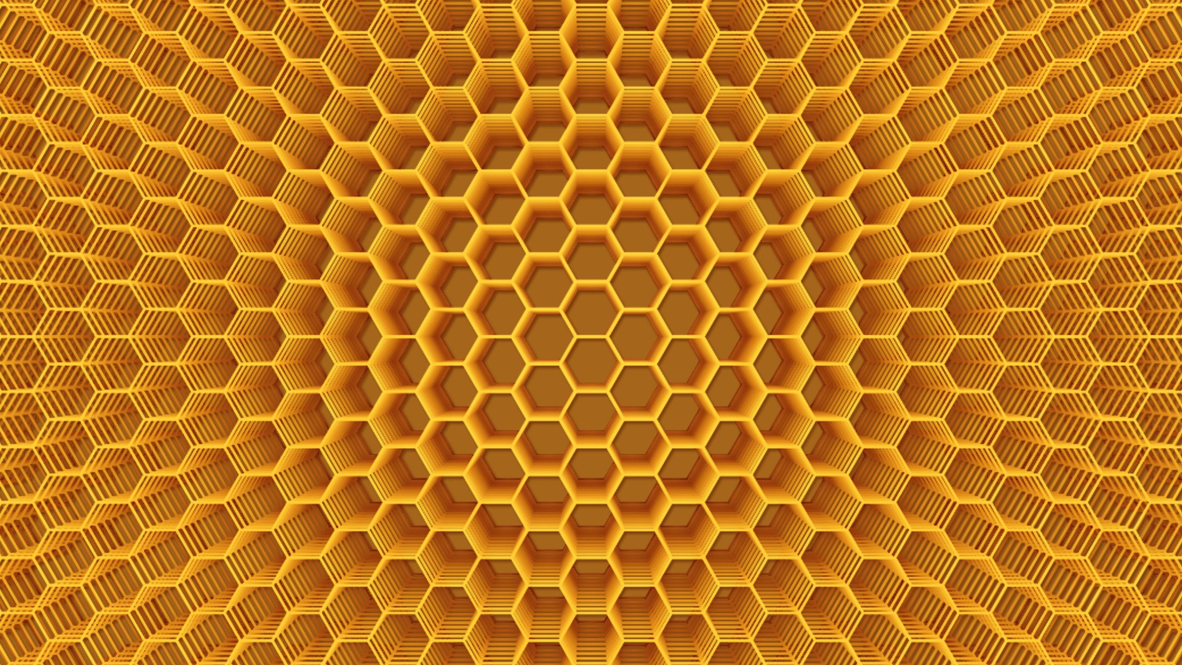 3D honeycomb wallpaper