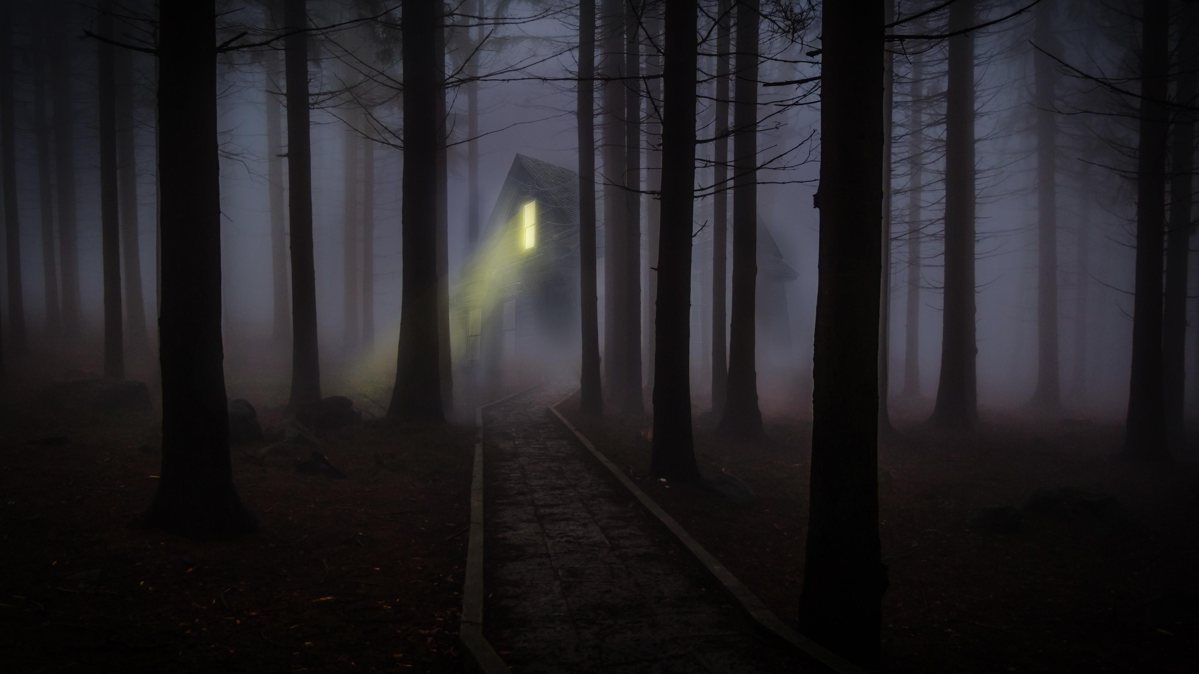 Creepy Haunted house  wallpaper