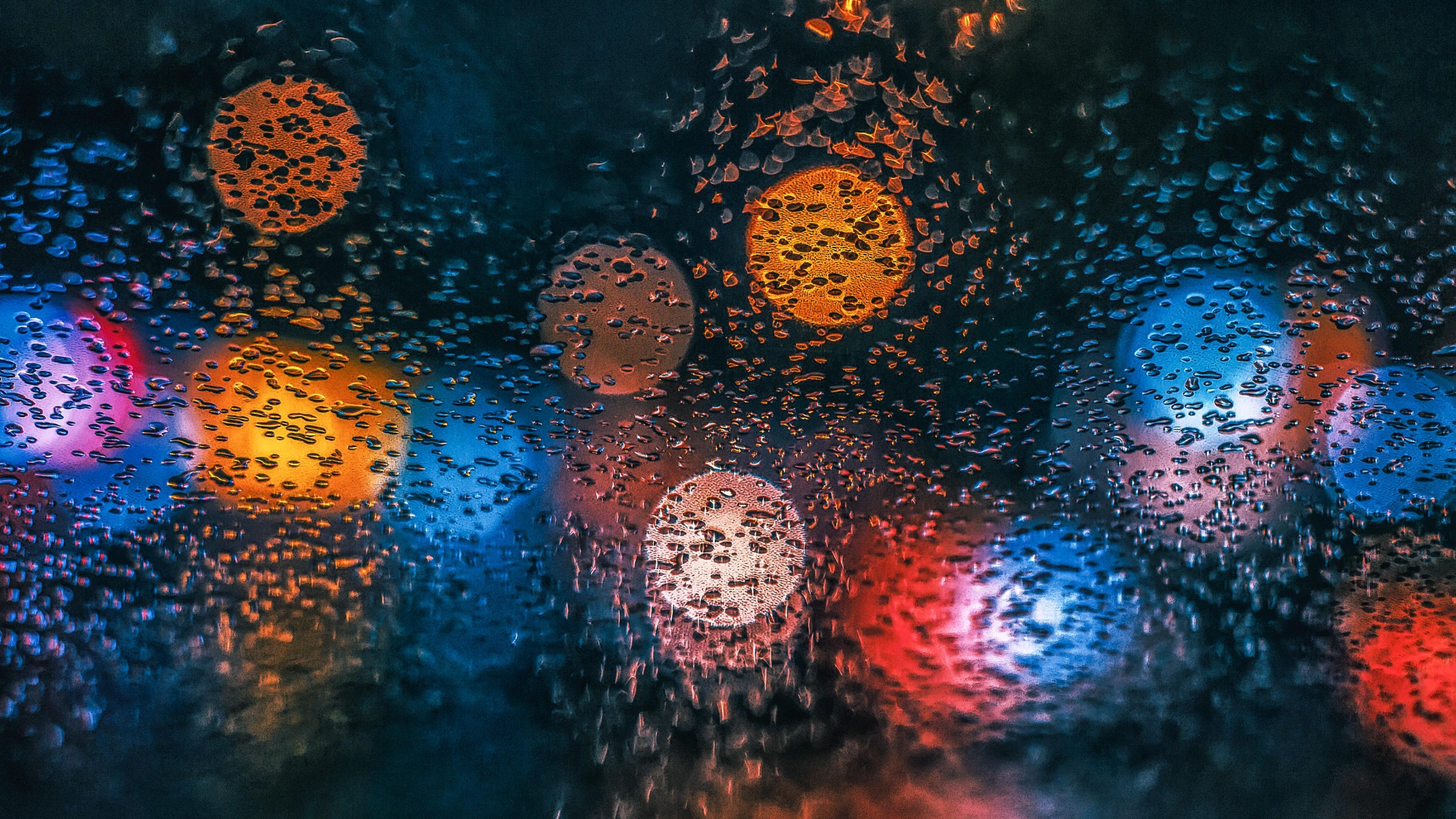 Car window waterdrops wallpaper