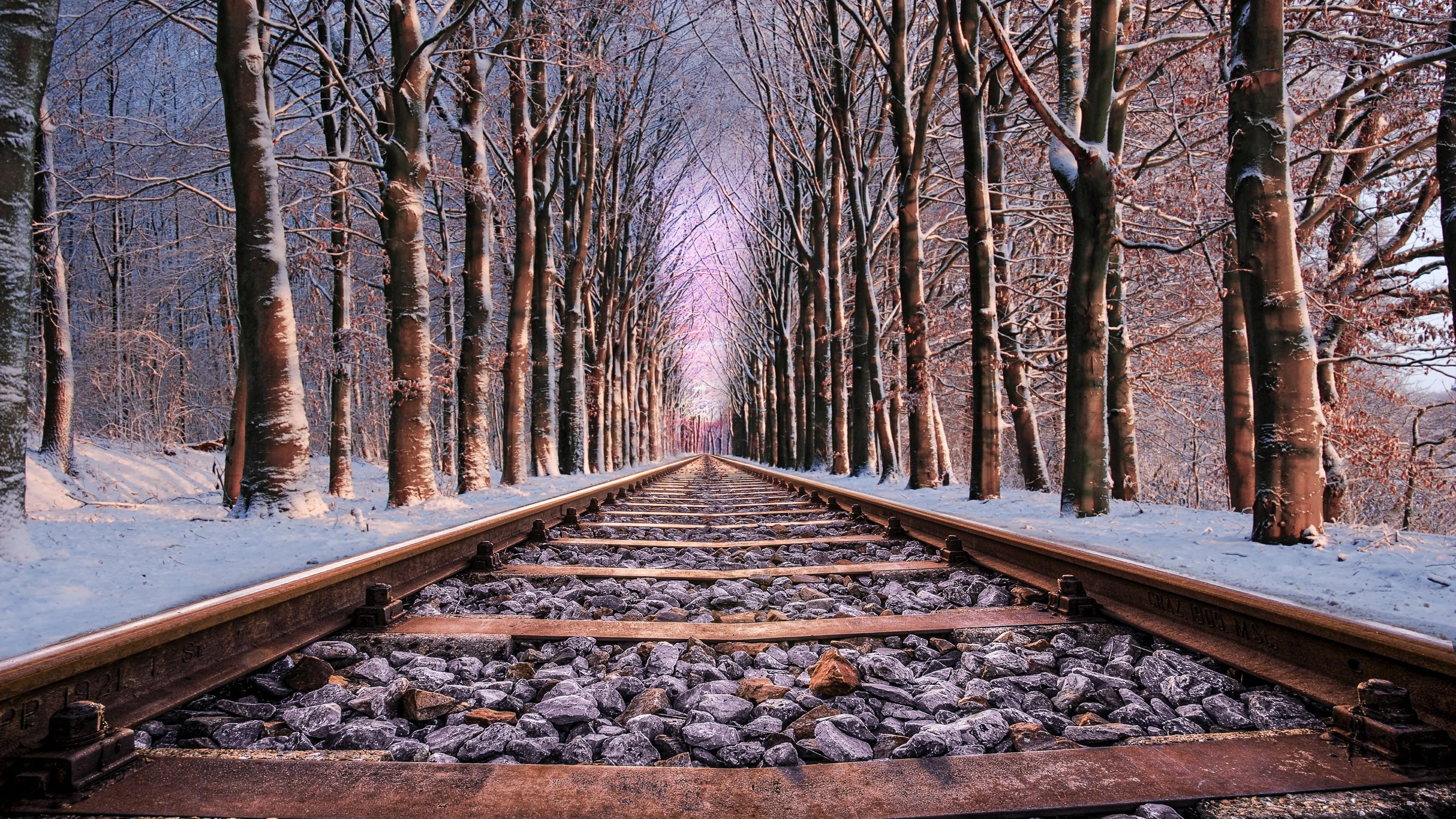 Rail tracks wallpaper