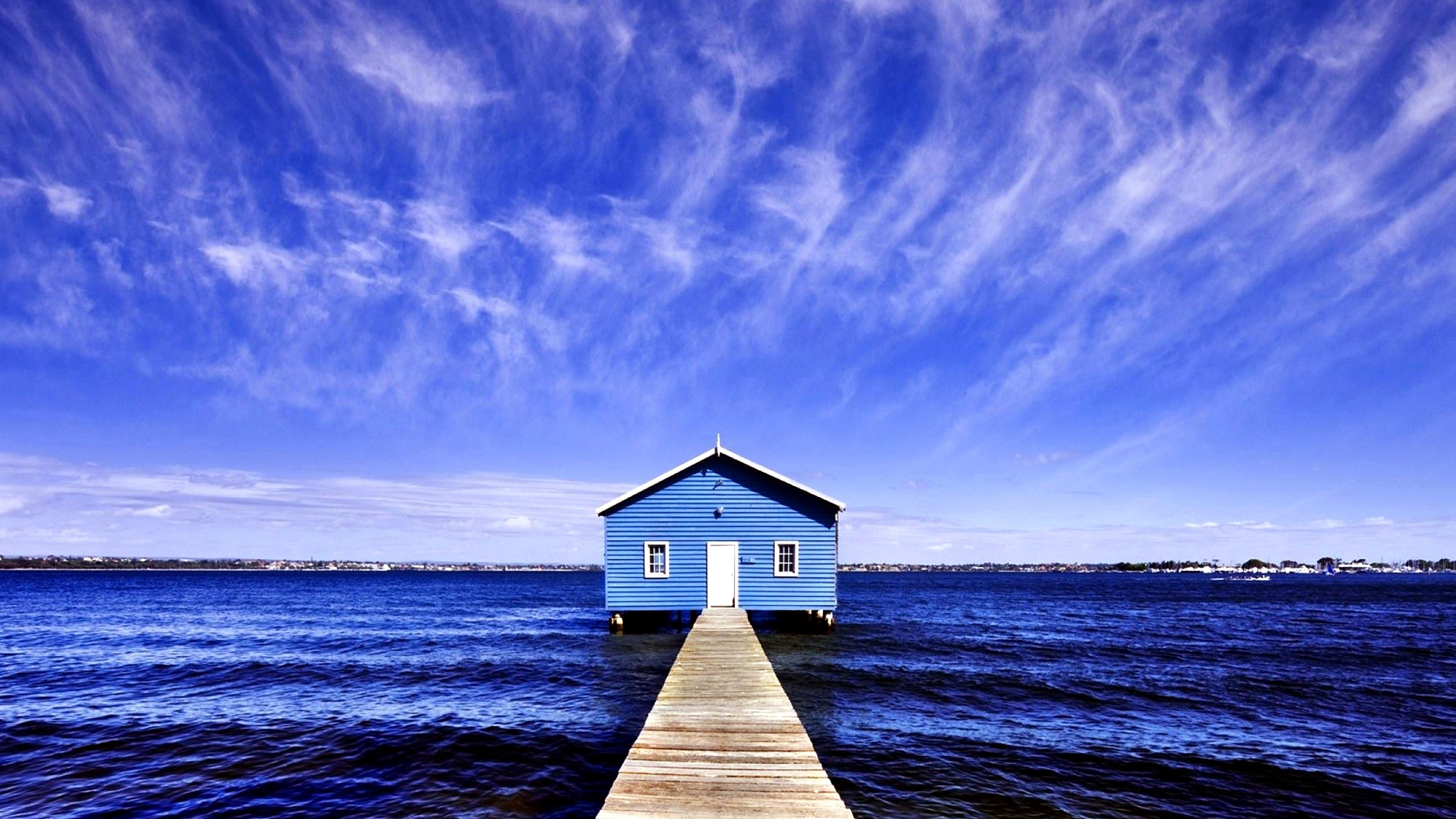 Blue Boat House On Matilda Bay (Australia) 4K UltraHD ...