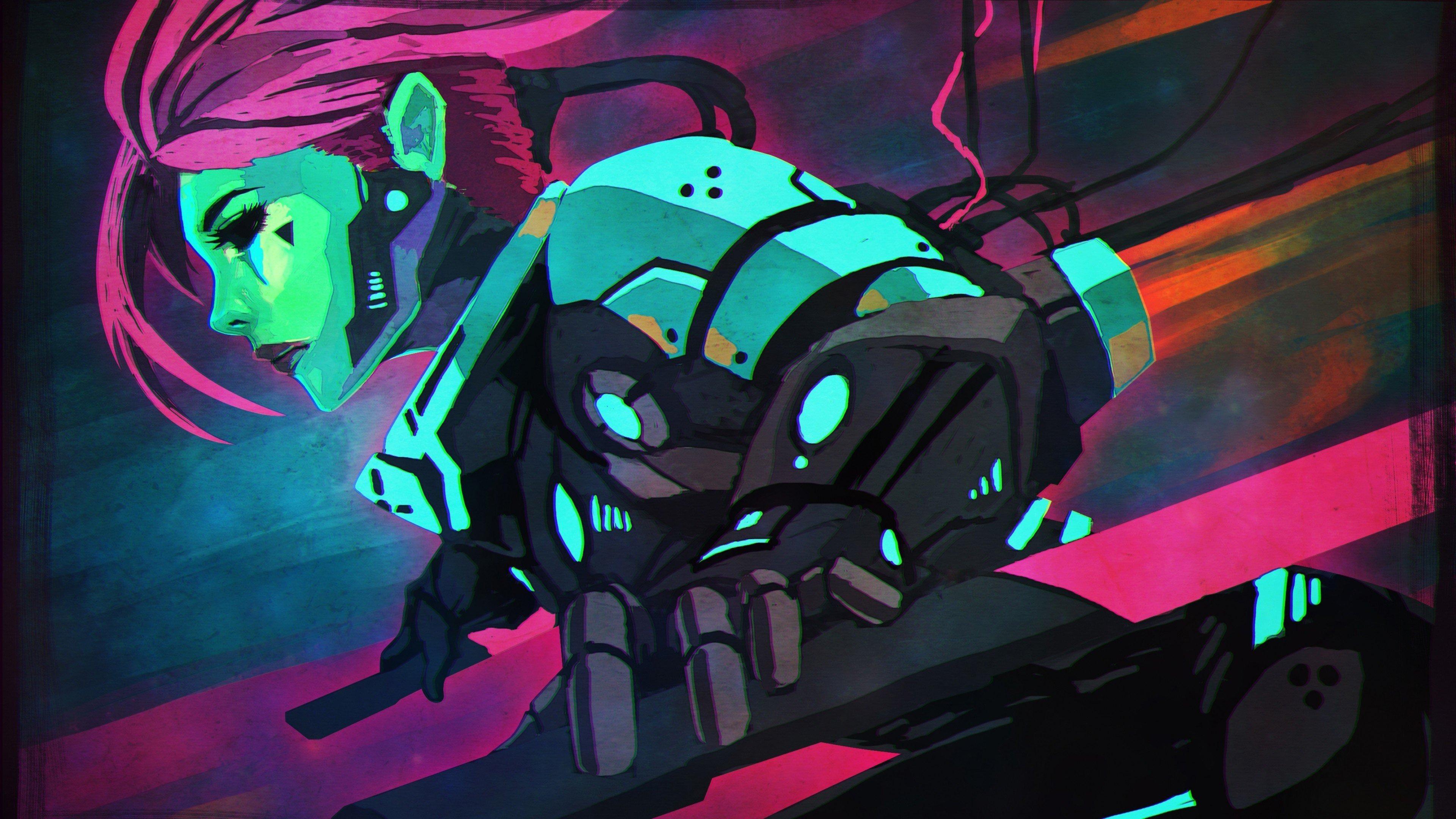 Cyberpunk Girl 4K UltraHD Wallpaper - backiee - Free Ultra ...