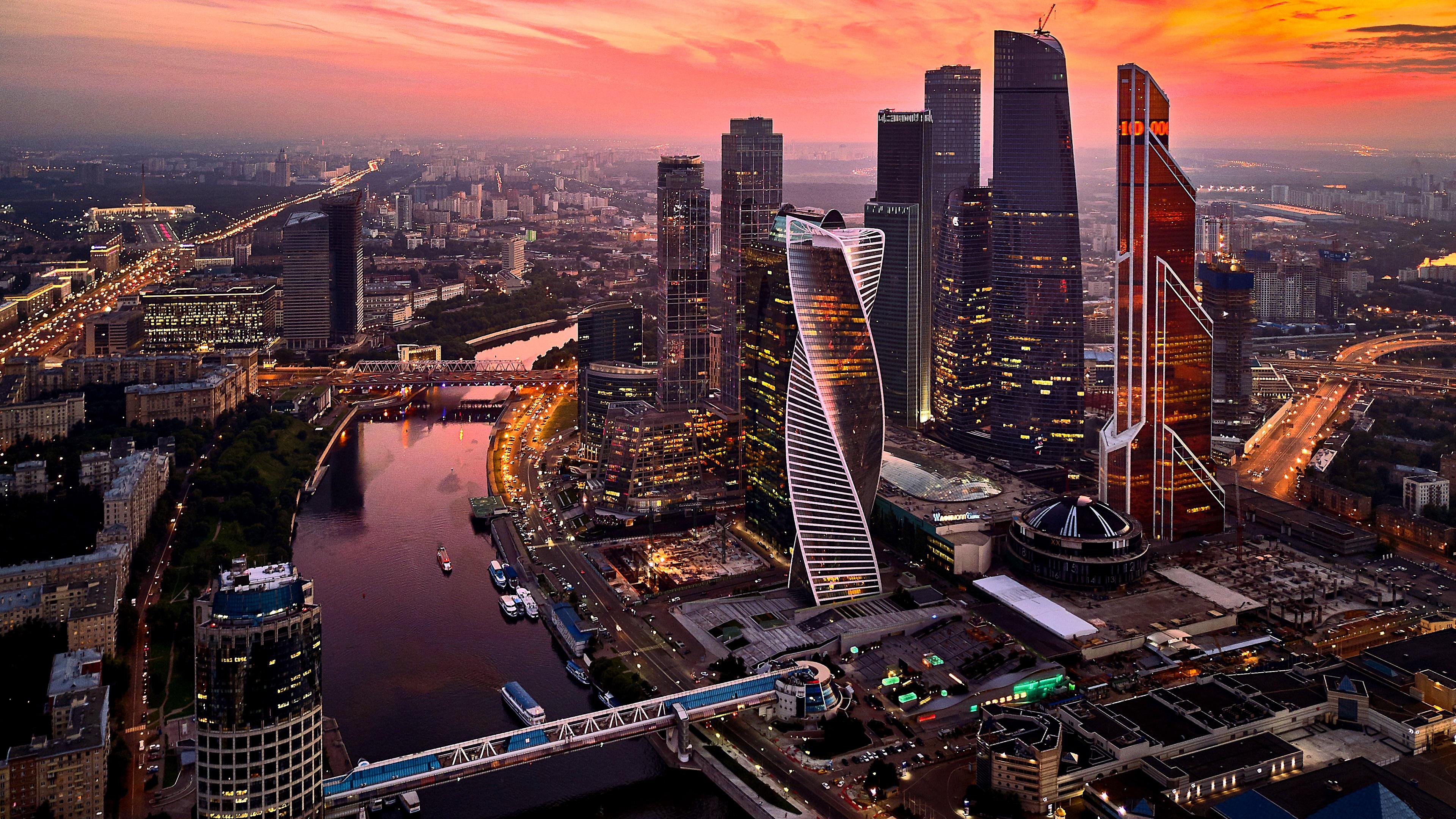 Moscow international business center russia 4k ultrahd wallpaper backiee free ultra hd - 4k wallpaper russia ...
