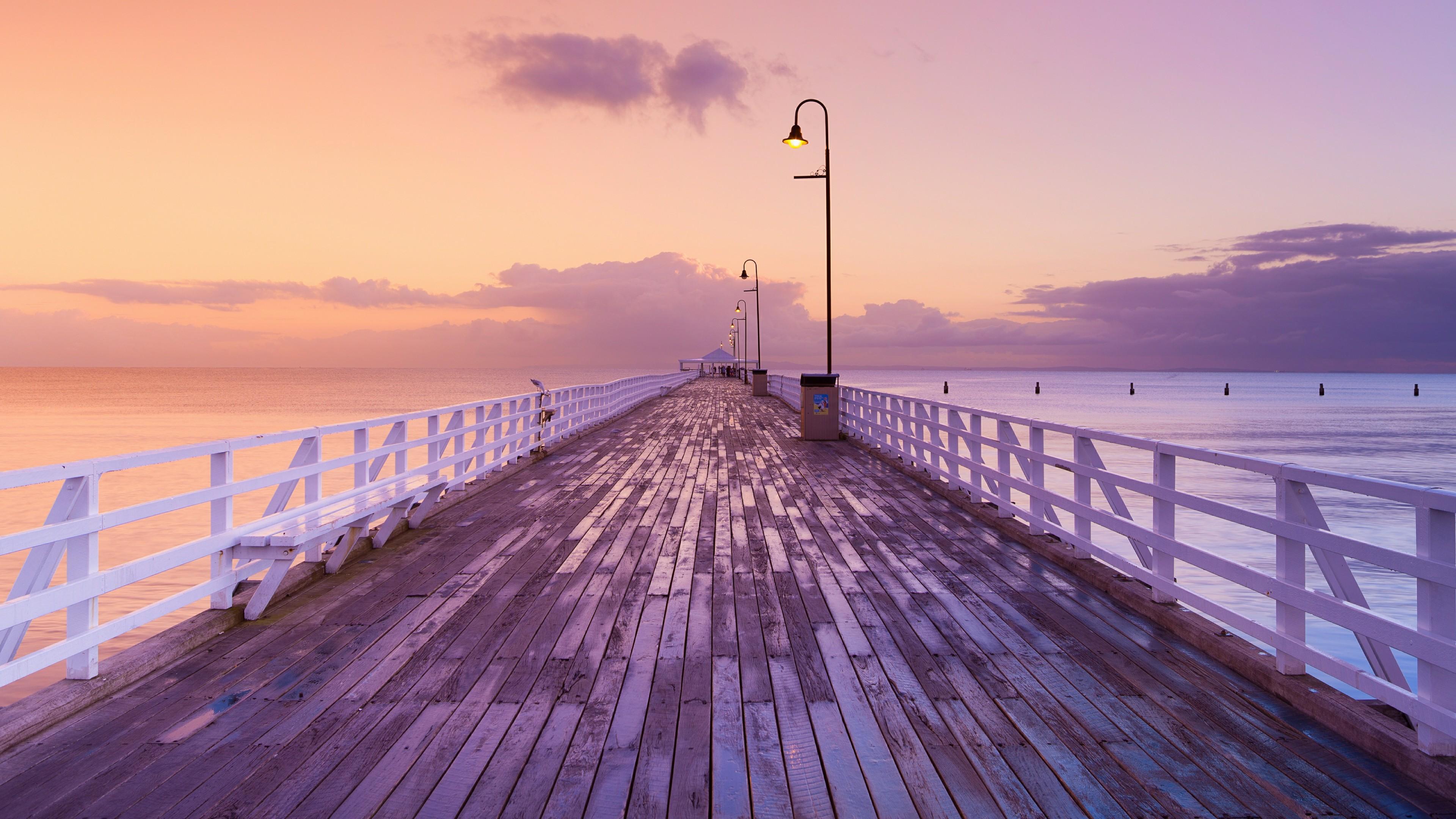 Sunrise from Shorncliffe Pier wallpaper