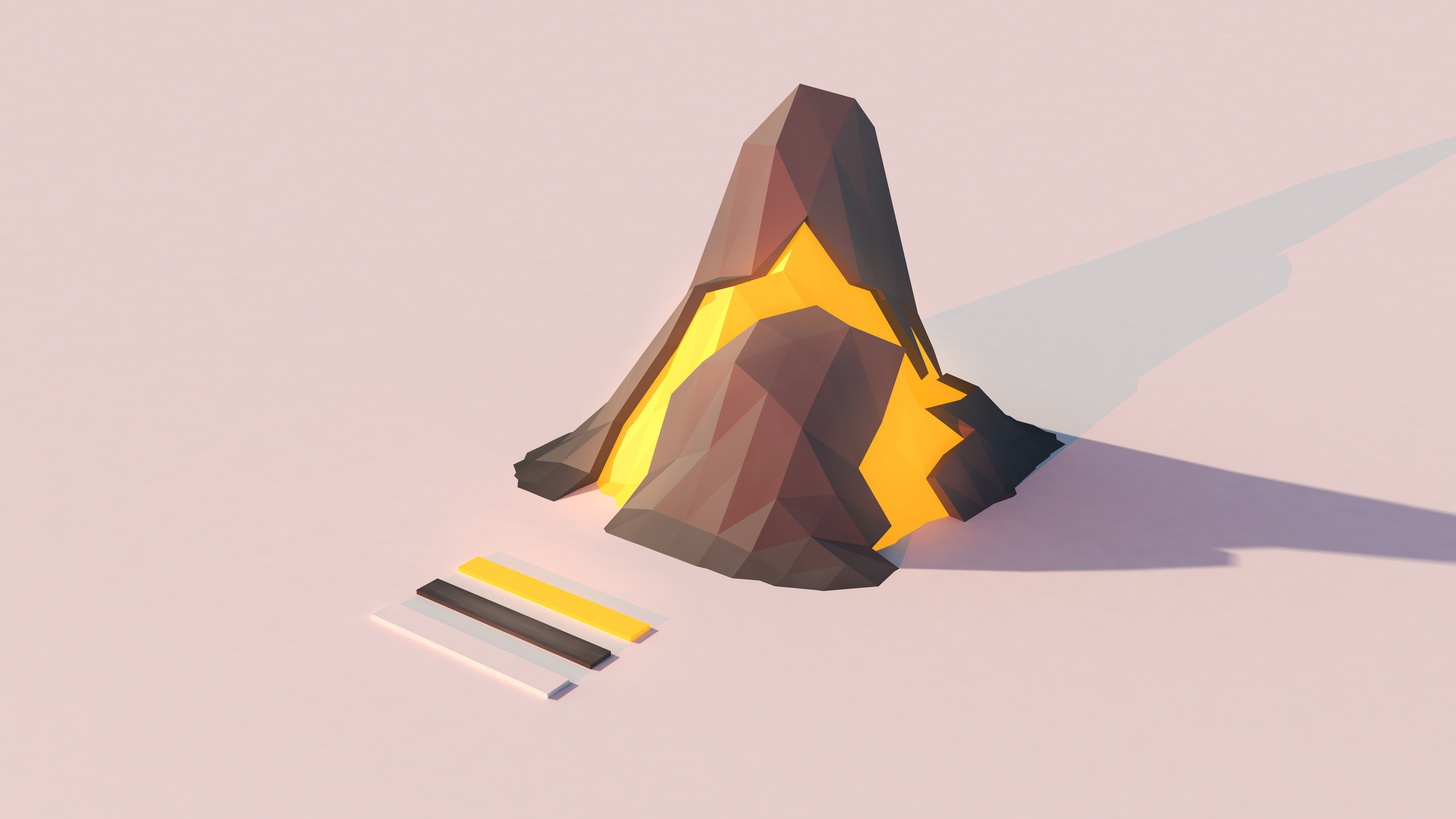 Volcano lowpoly wallpaper