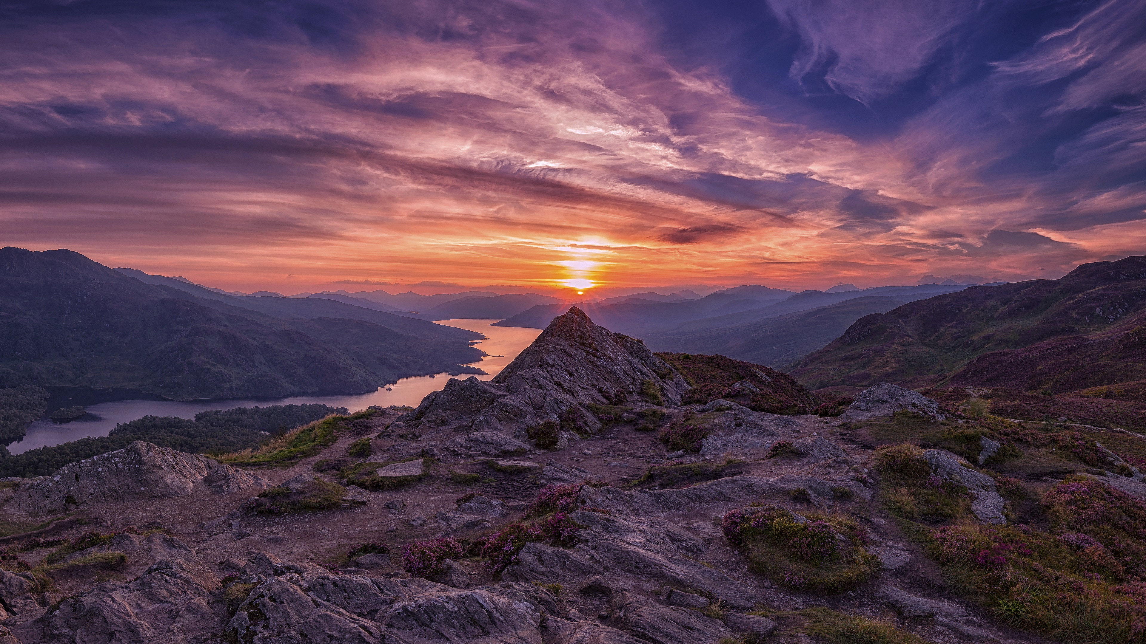 Loch Katrine from Ben A'an (Scotland) wallpaper