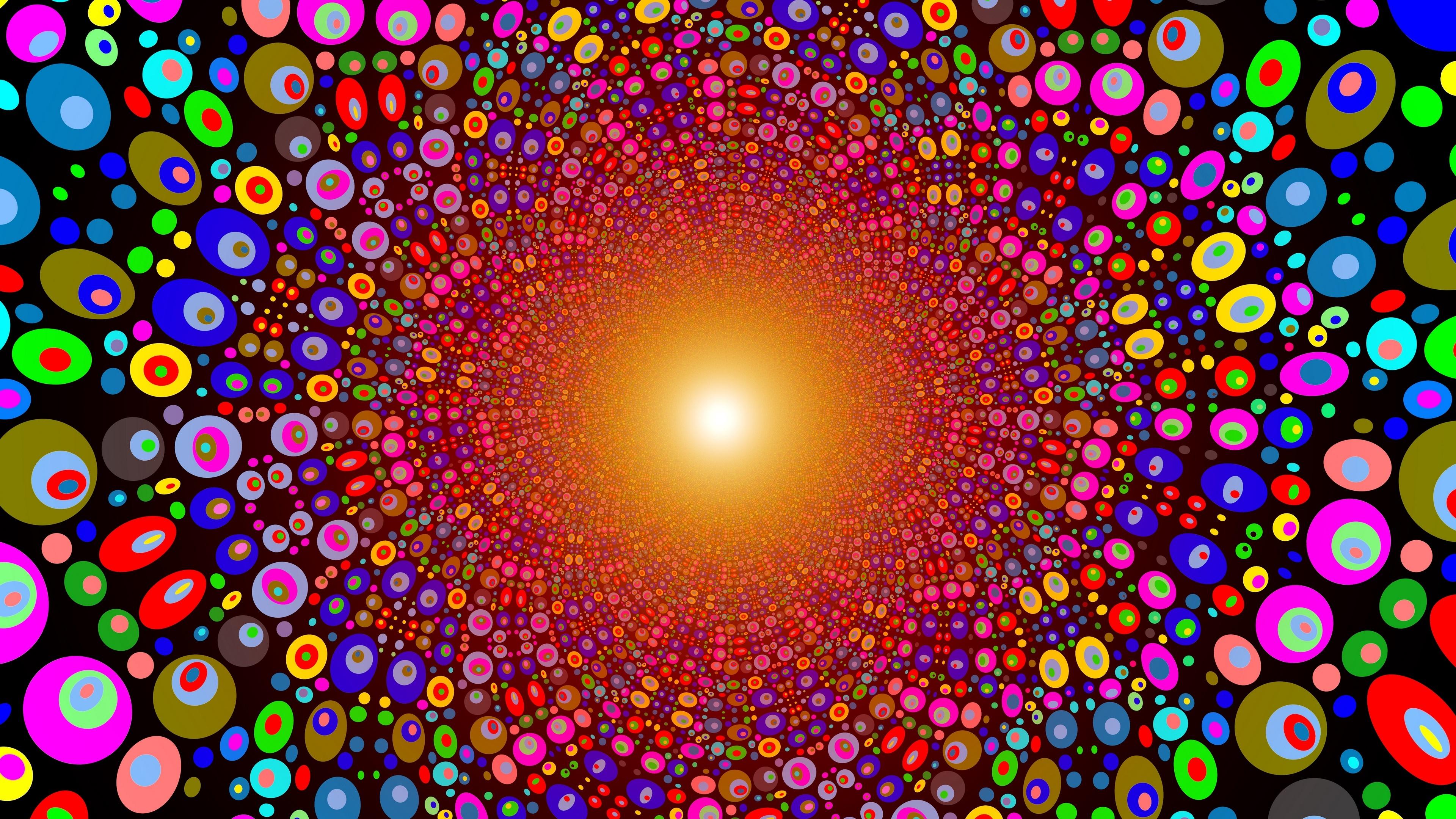 Multicolor psychedelic art wallpaper