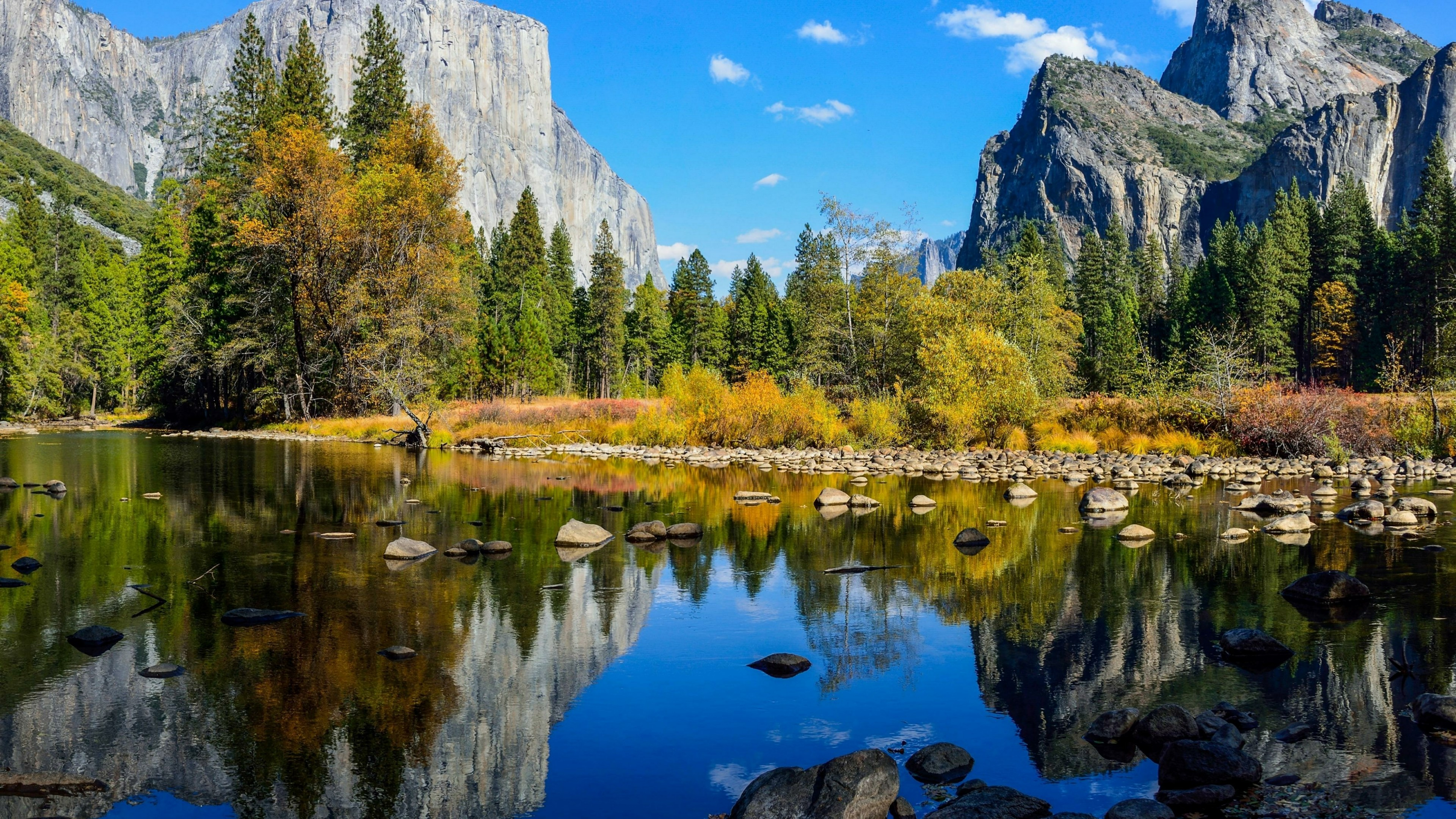El Capitan from Merced River, Yosemite Valley wallpaper
