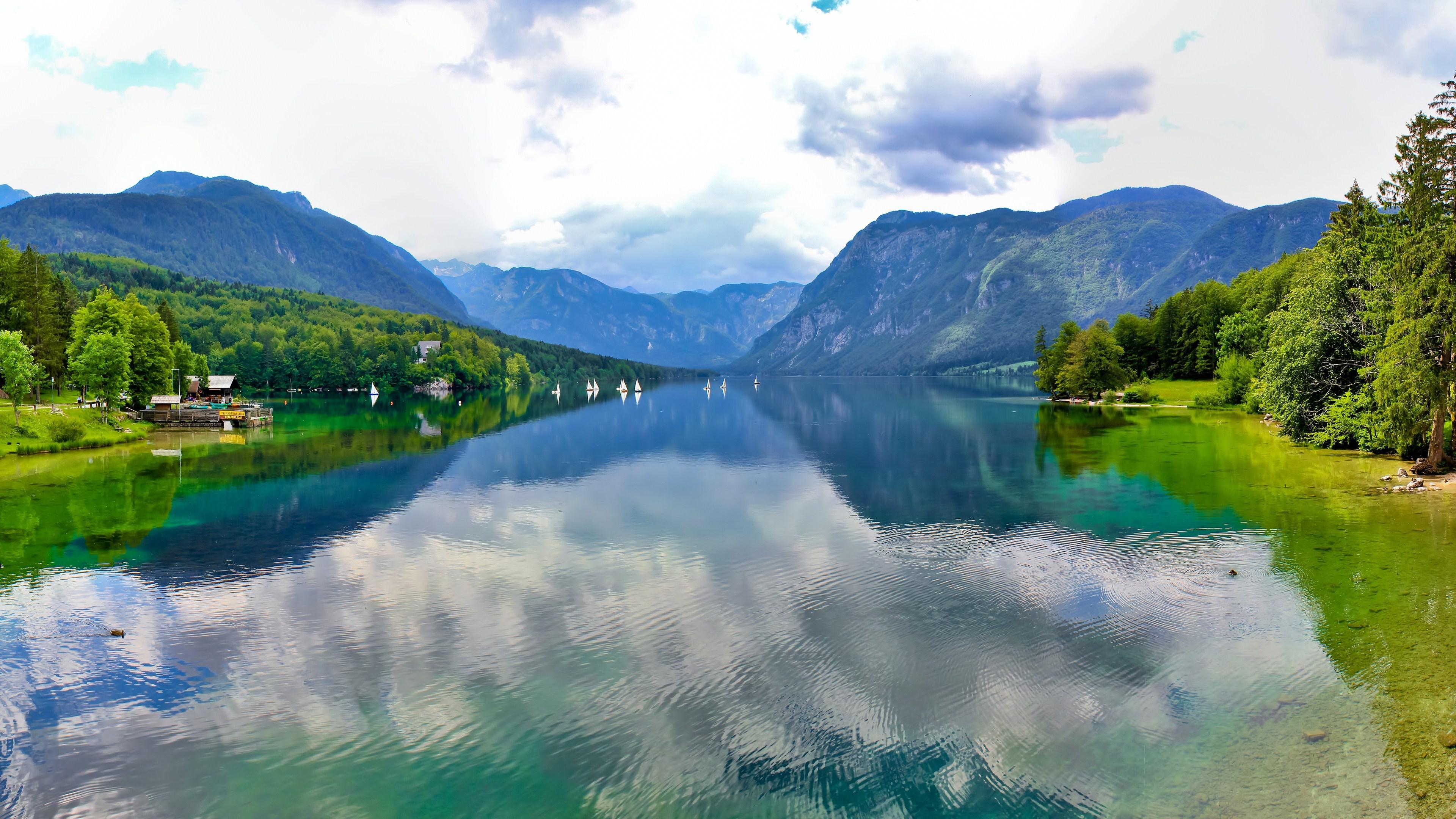 Lake Bohinj in Triglav National Park wallpaper
