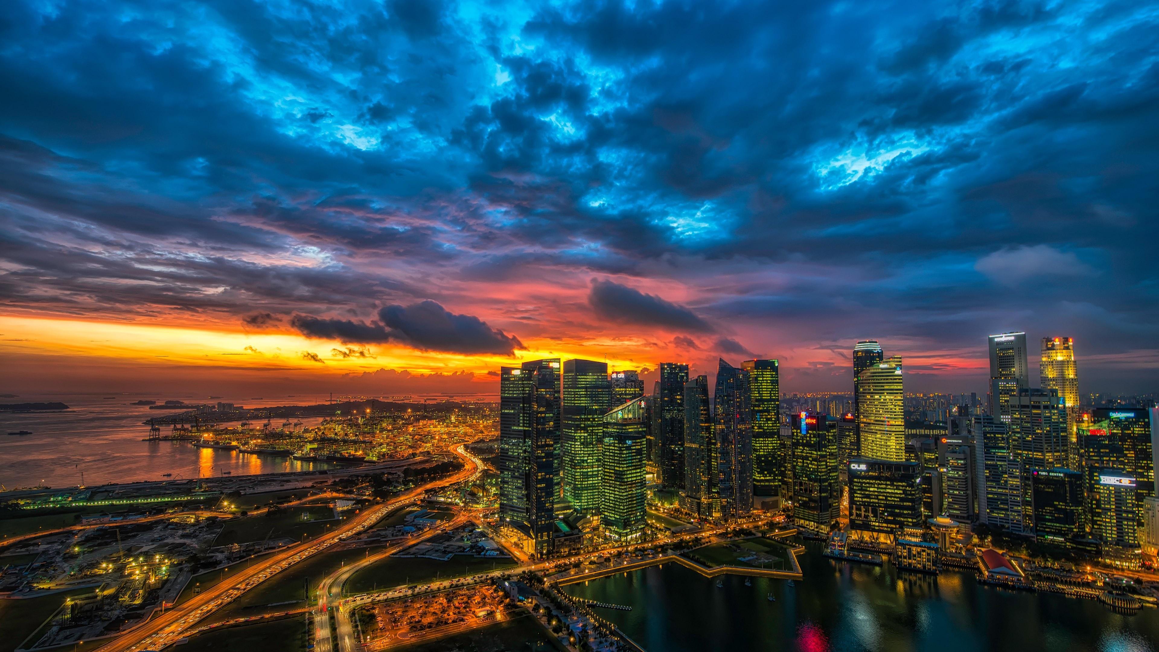Singapore skyline wallpaper