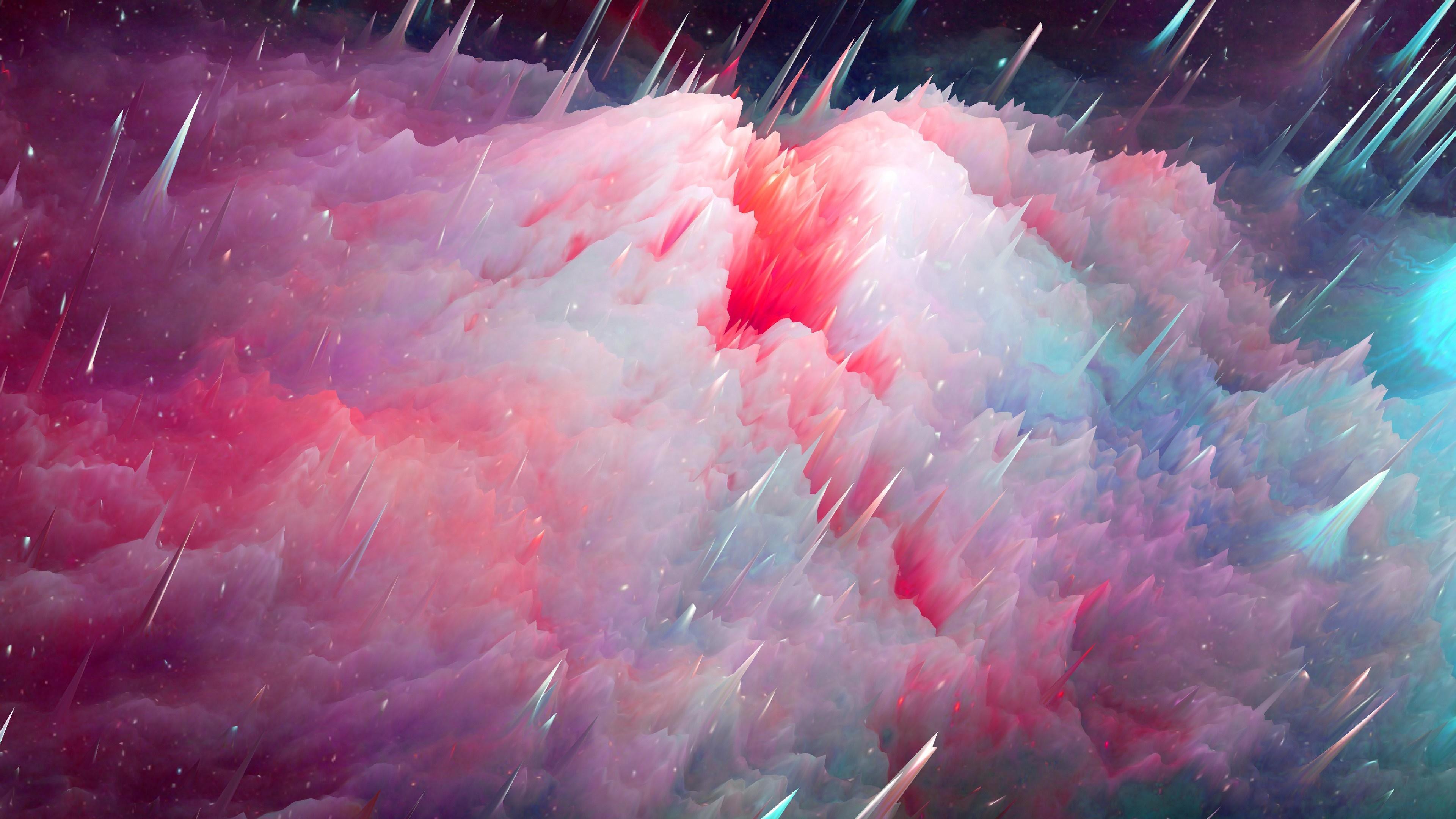 Prickly abstract art wallpaper