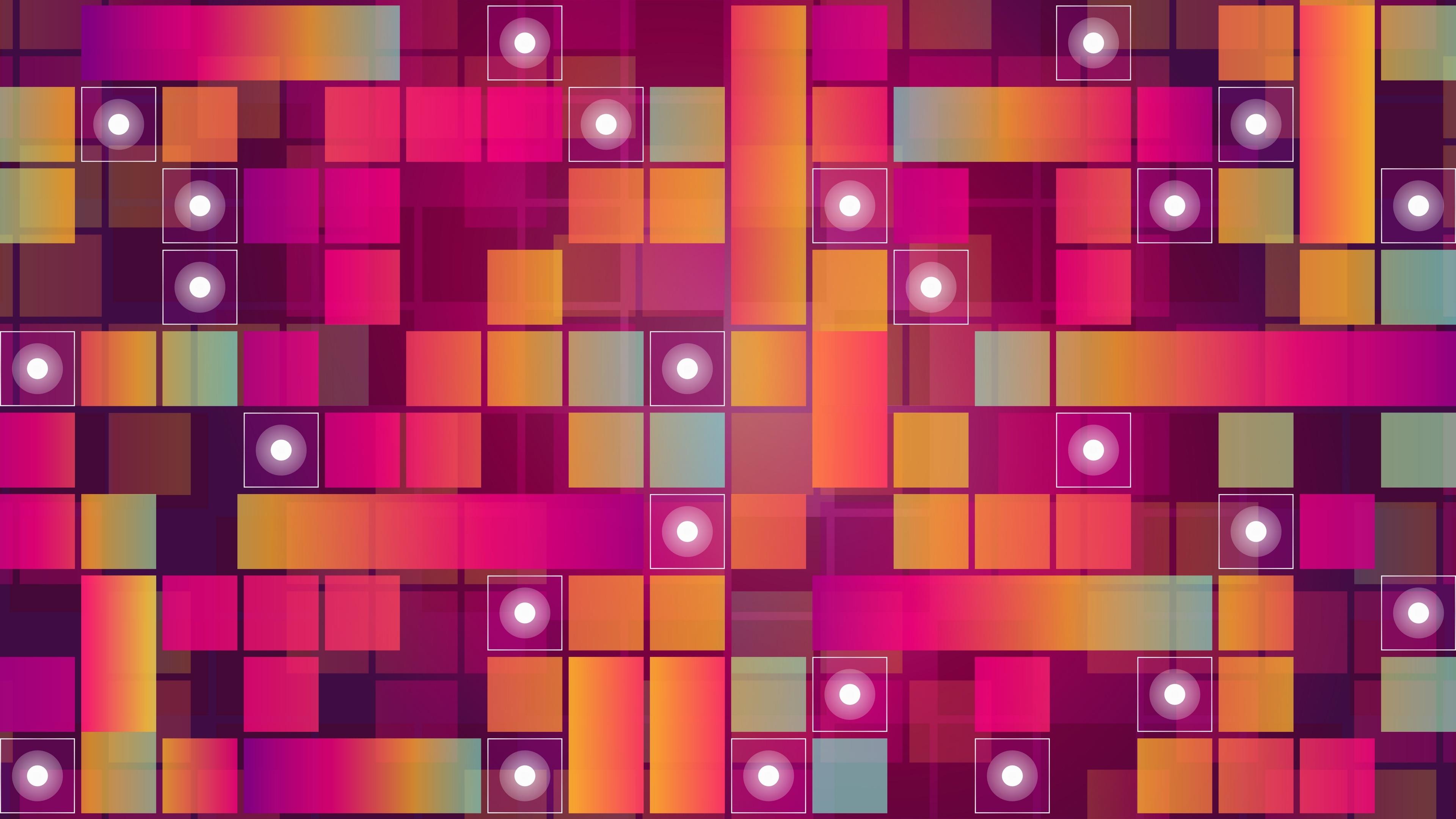 Pink mosaic design wallpaper