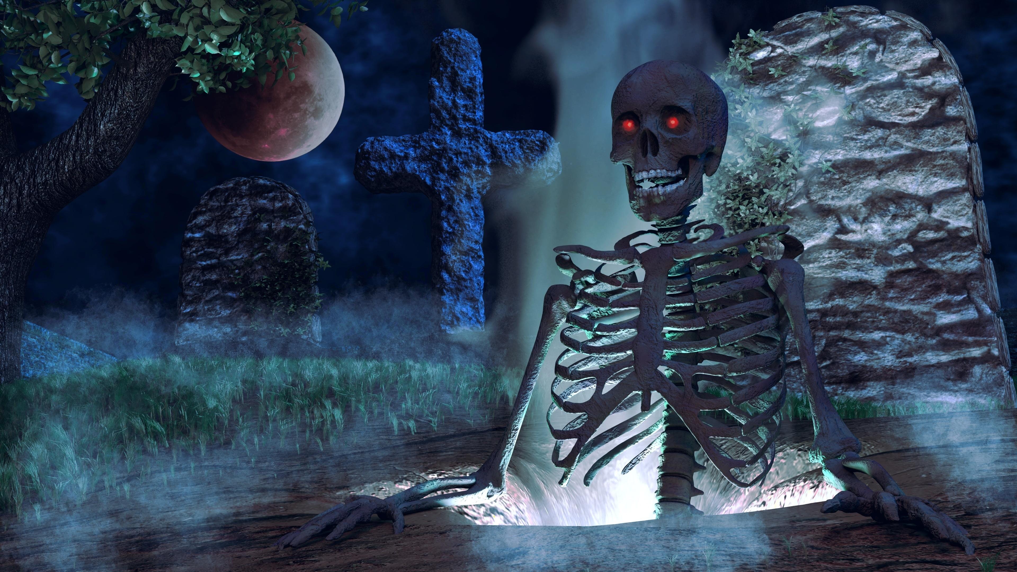 Creepy skeleton wallpaper