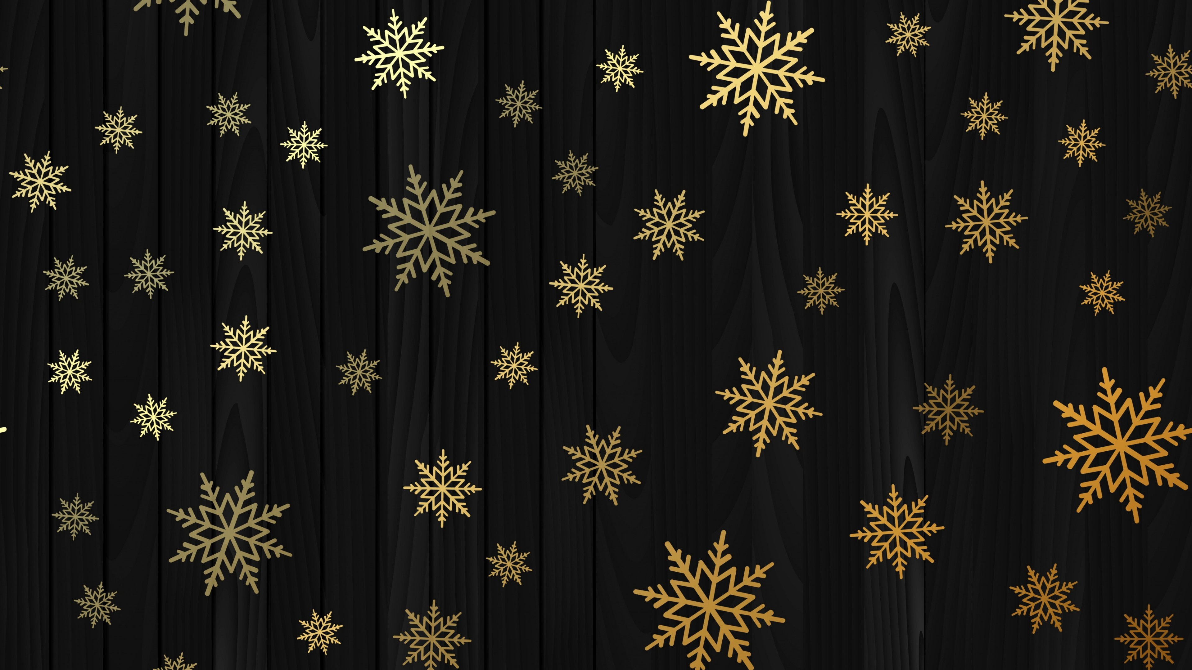 Gold snowflakes wallpaper