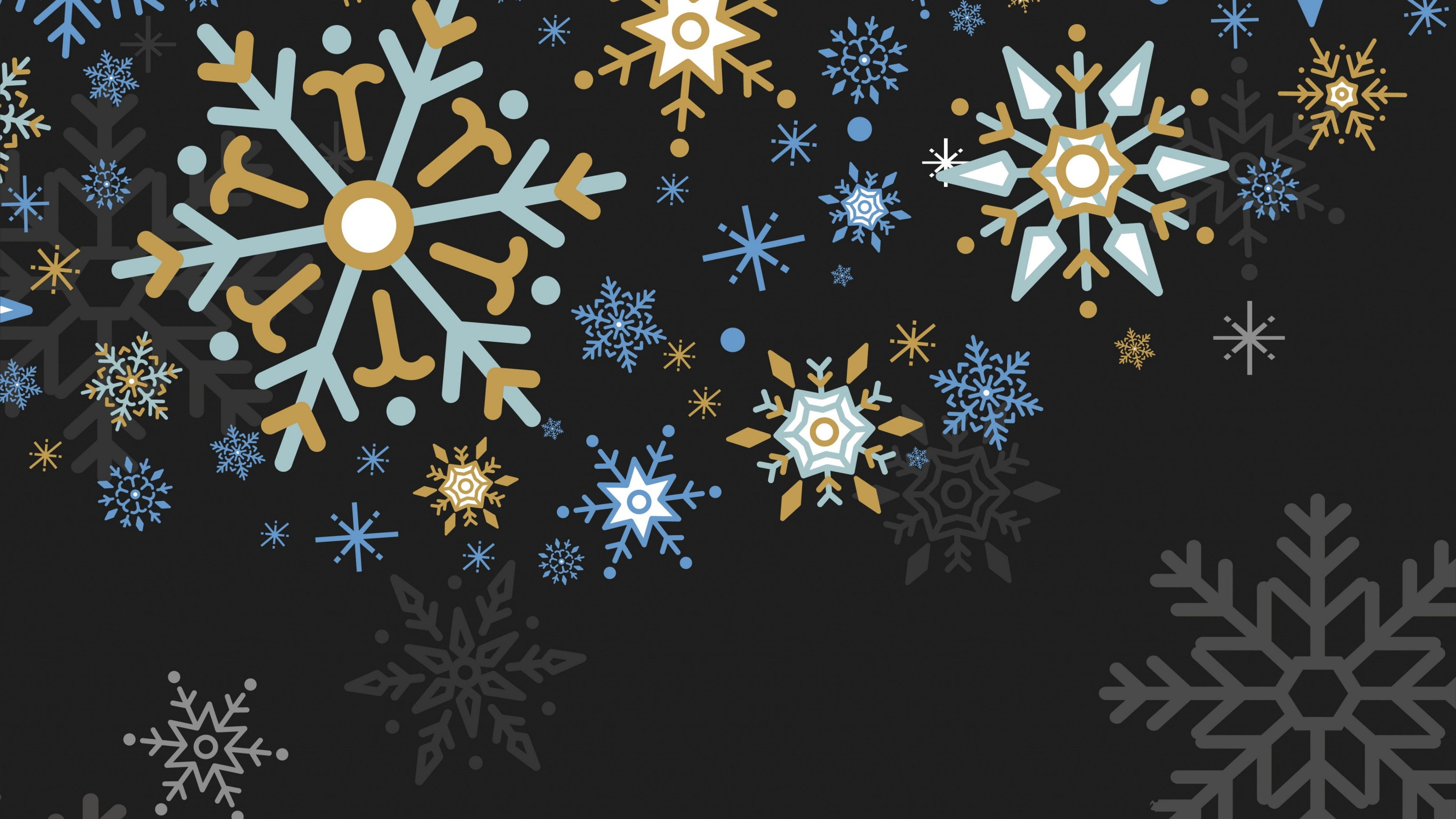 Snowflakes graphics wallpaper