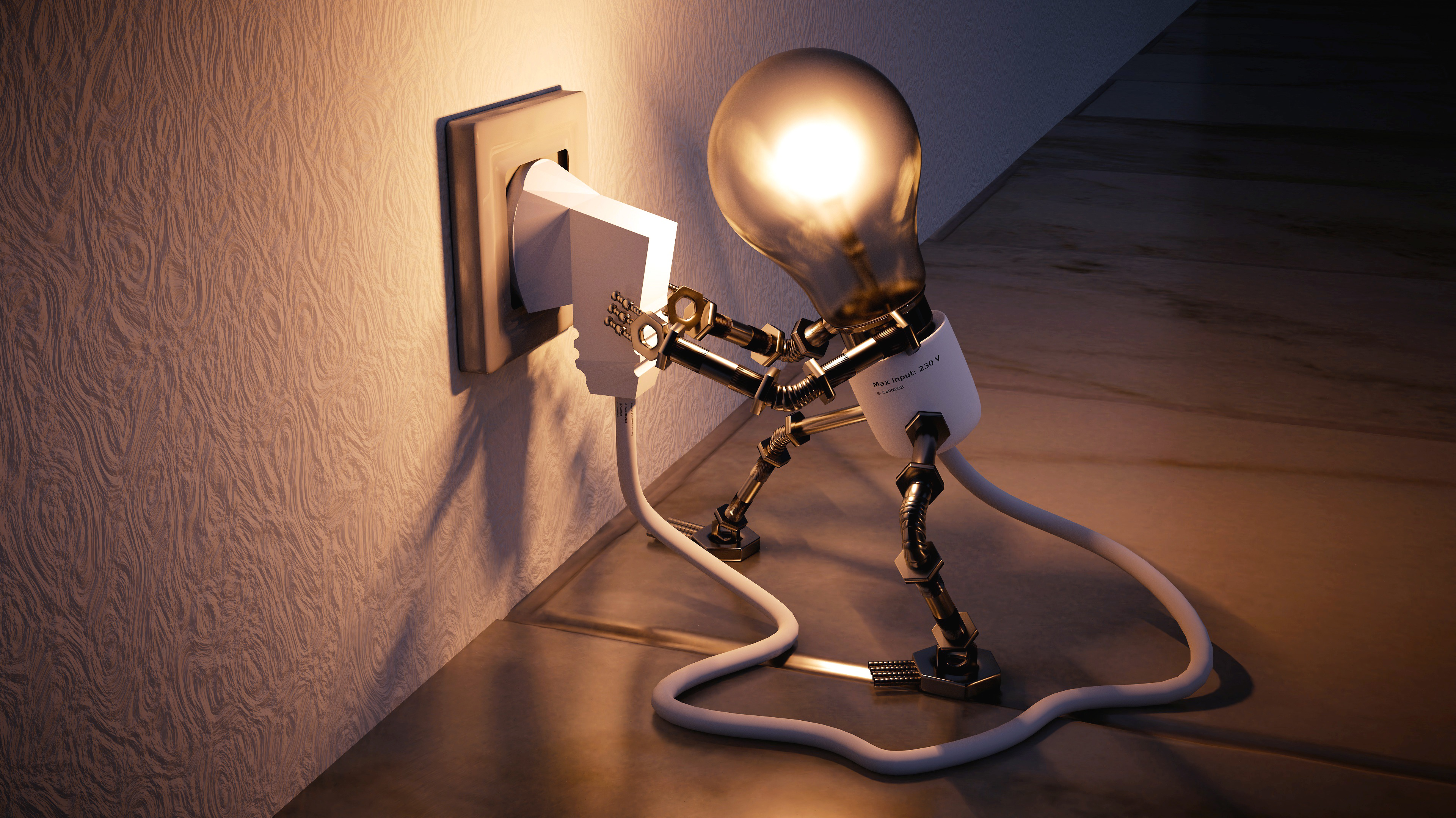 Smart Light bulb unplug himself wallpaper