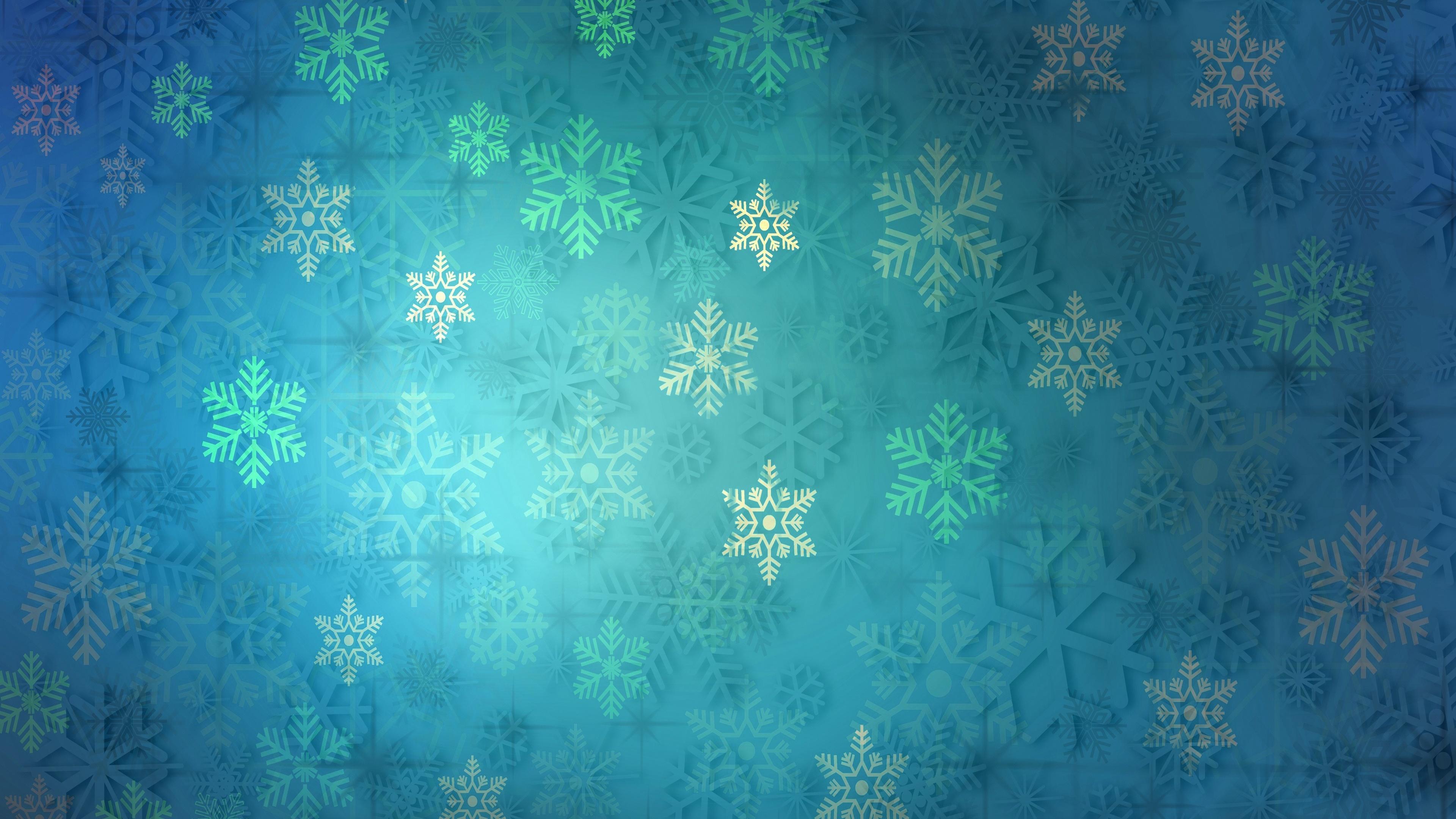 Snowflake pattern wallpaper