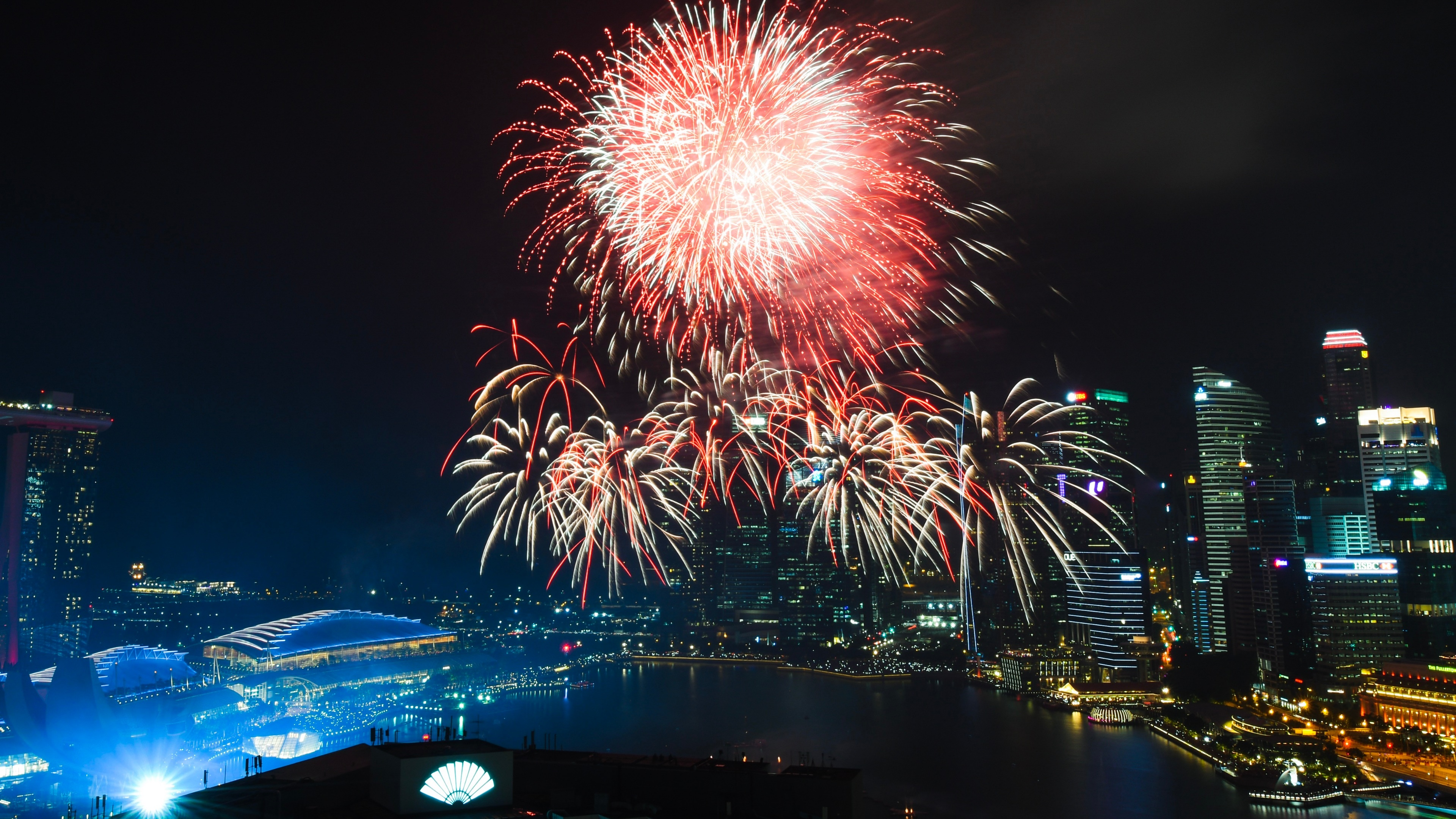 Fireworks Over Marina Bay wallpaper