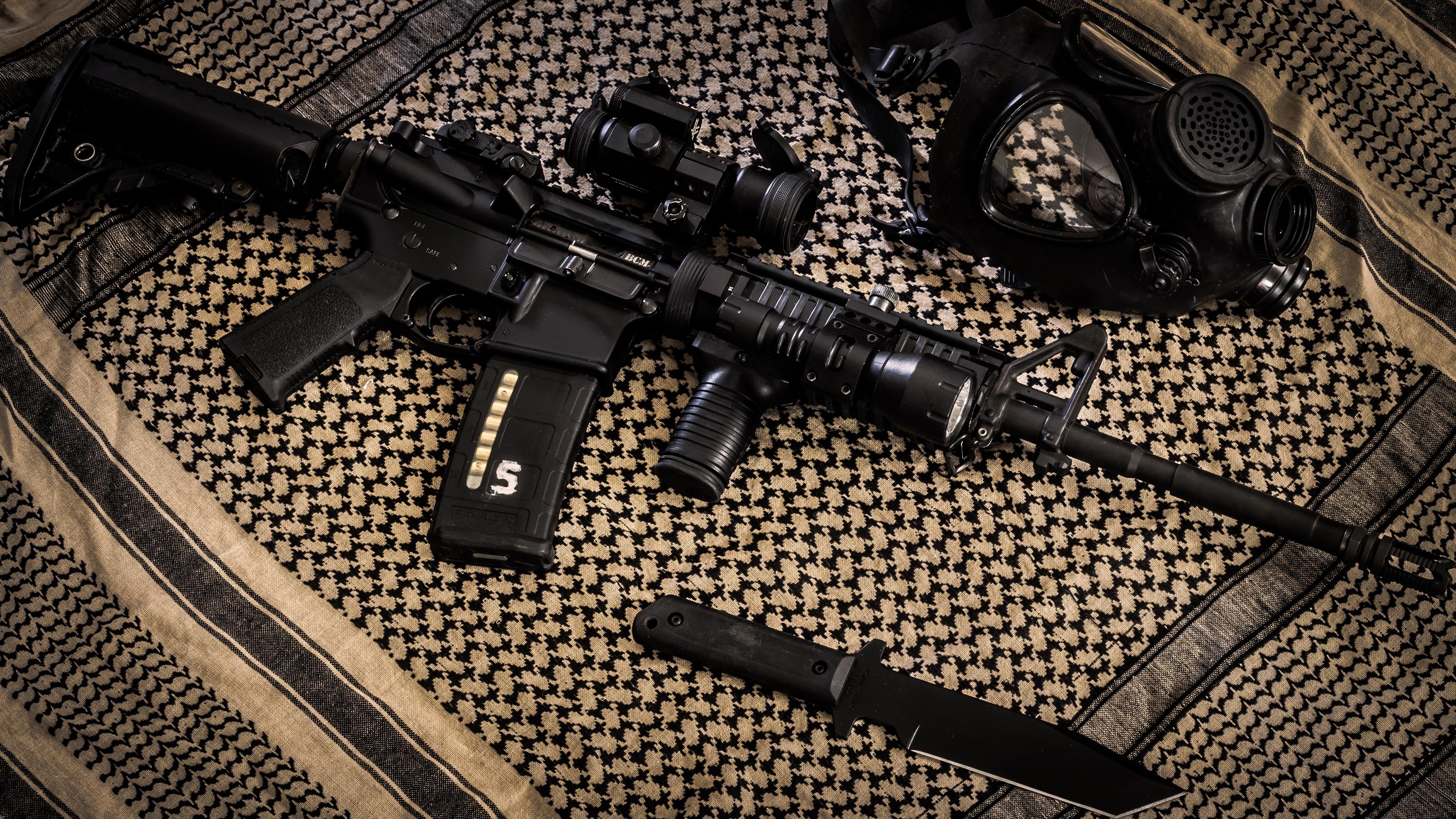 AR-15 style rifle wallpaper