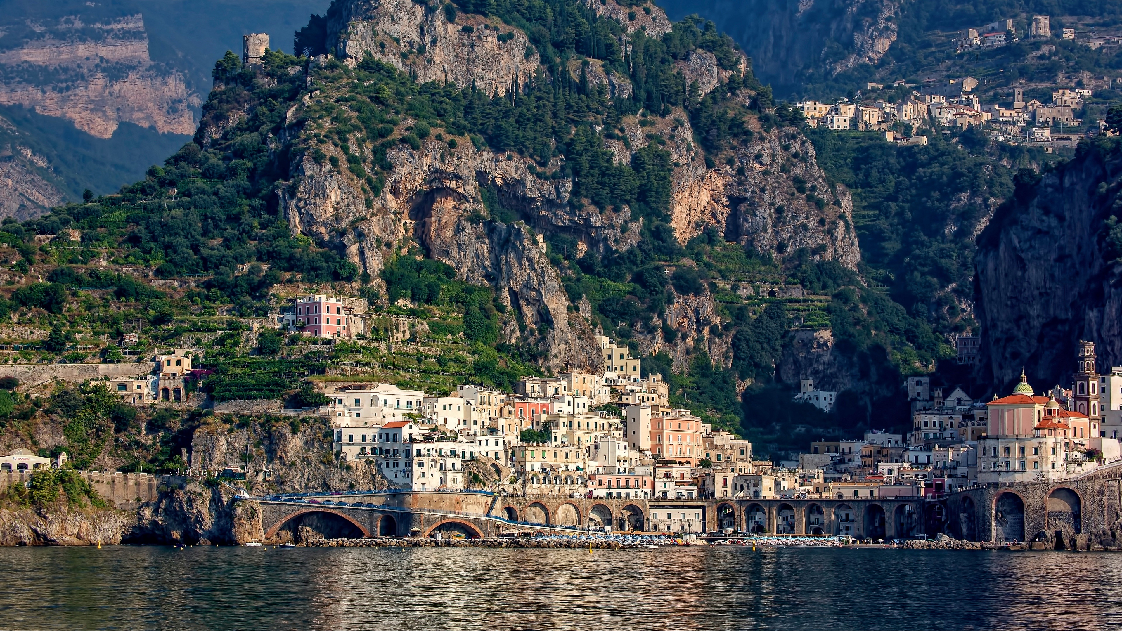 Amalfi from the Tyrrhenian Sea (Italy) wallpaper