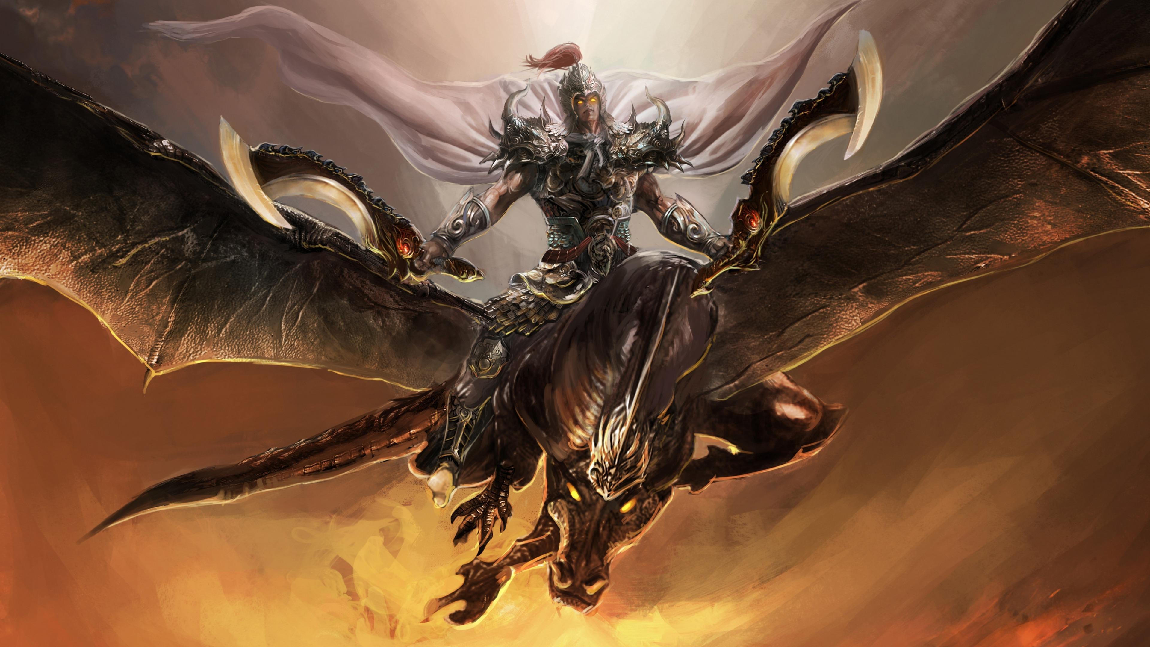Dragon rider warrior wallpaper