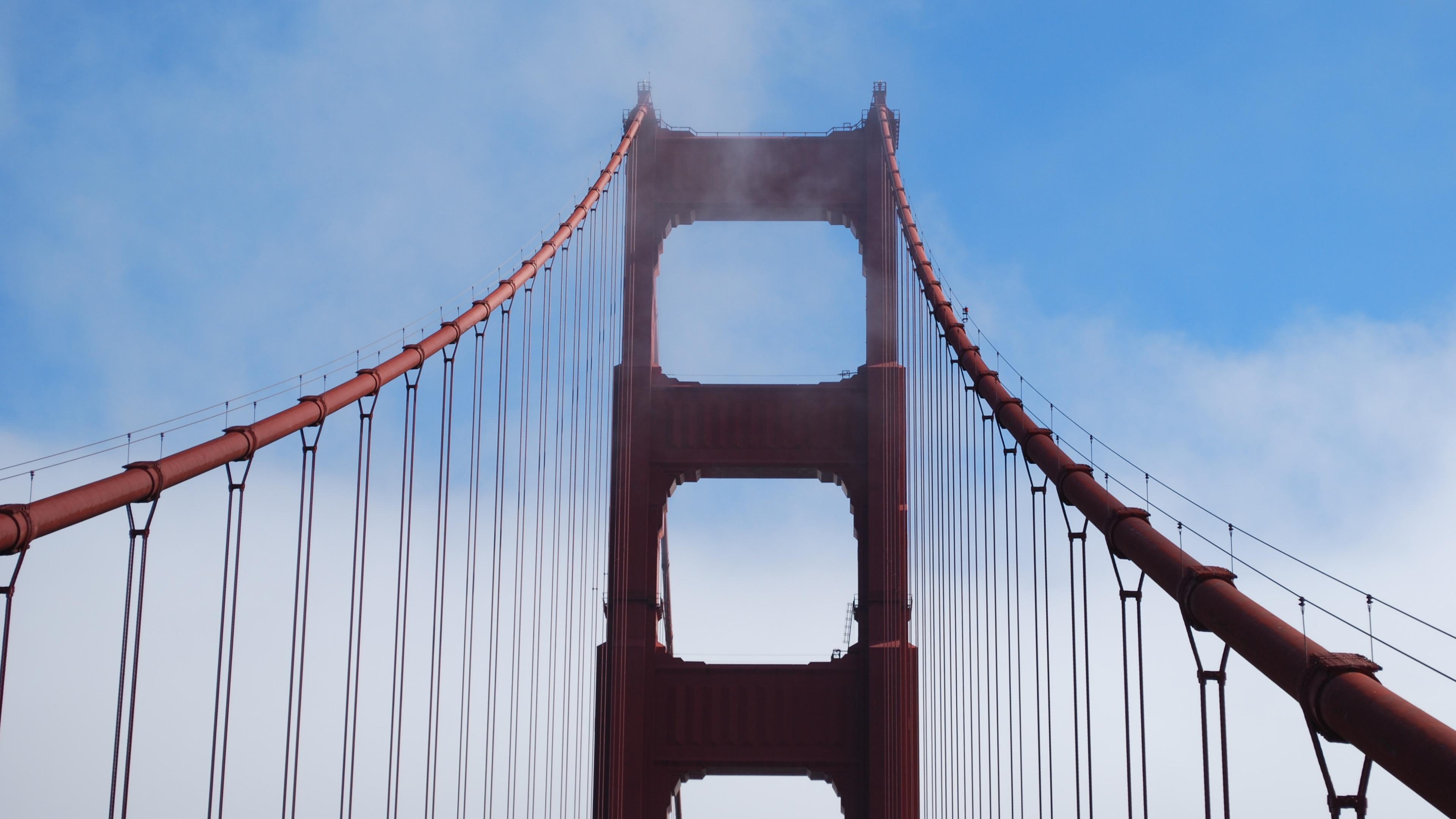 Golden Gate Bridge Tower 4k Ultrahd Wallpaper Backiee