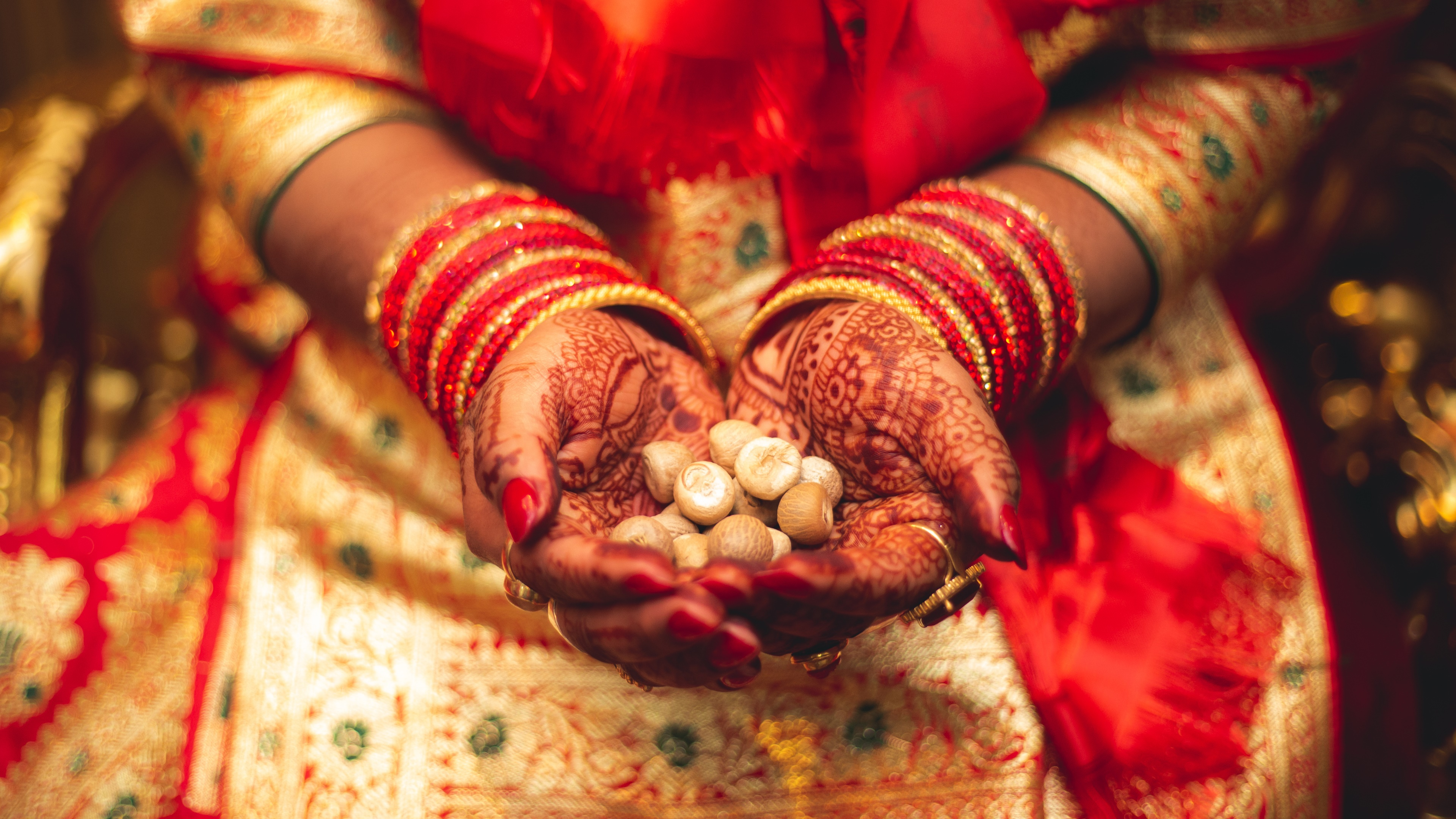 Hindu wedding reception wallpaper