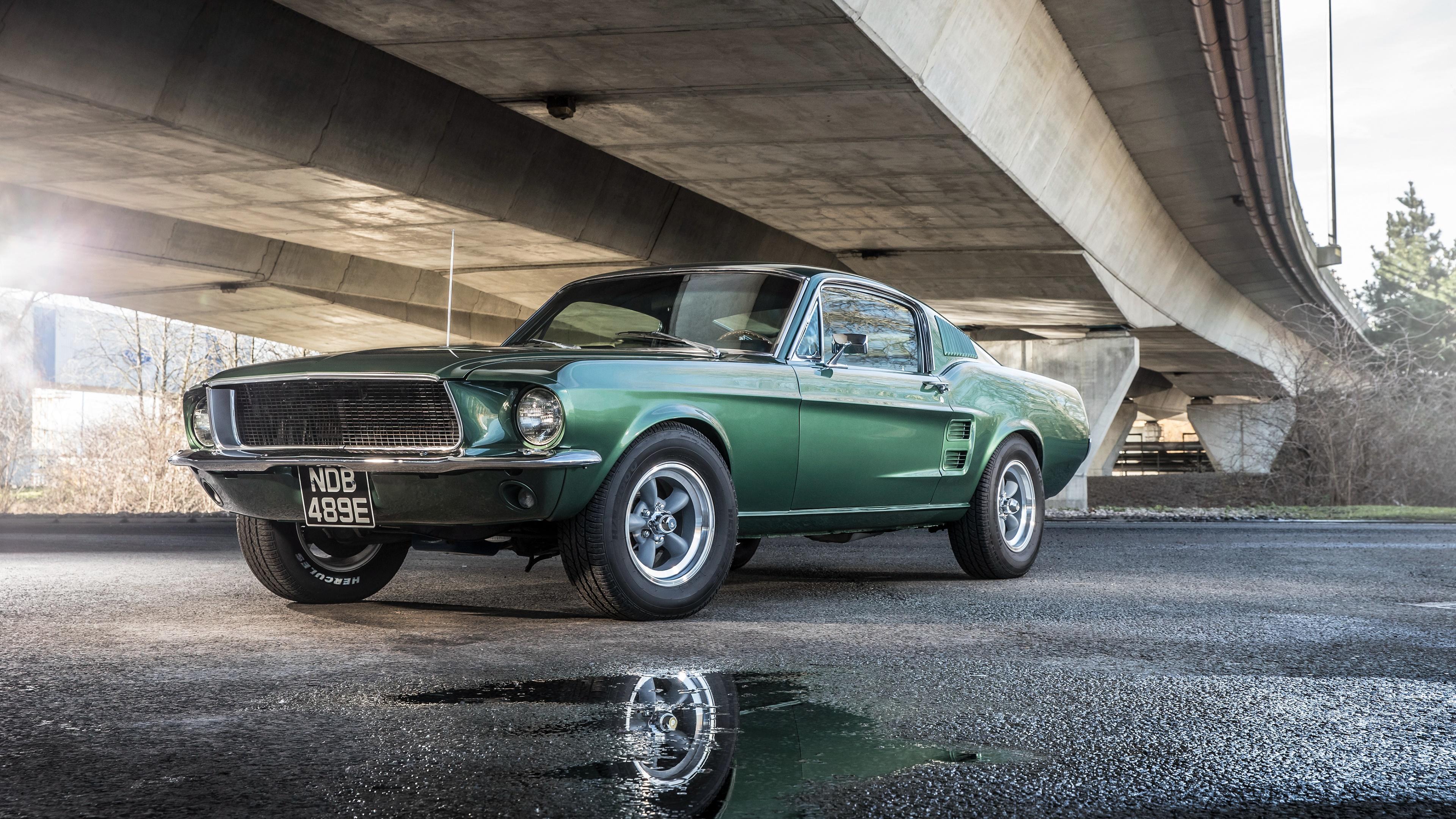 Ford Mustang Bullitt 1968 4k Ultrahd Wallpaper Backiee Free