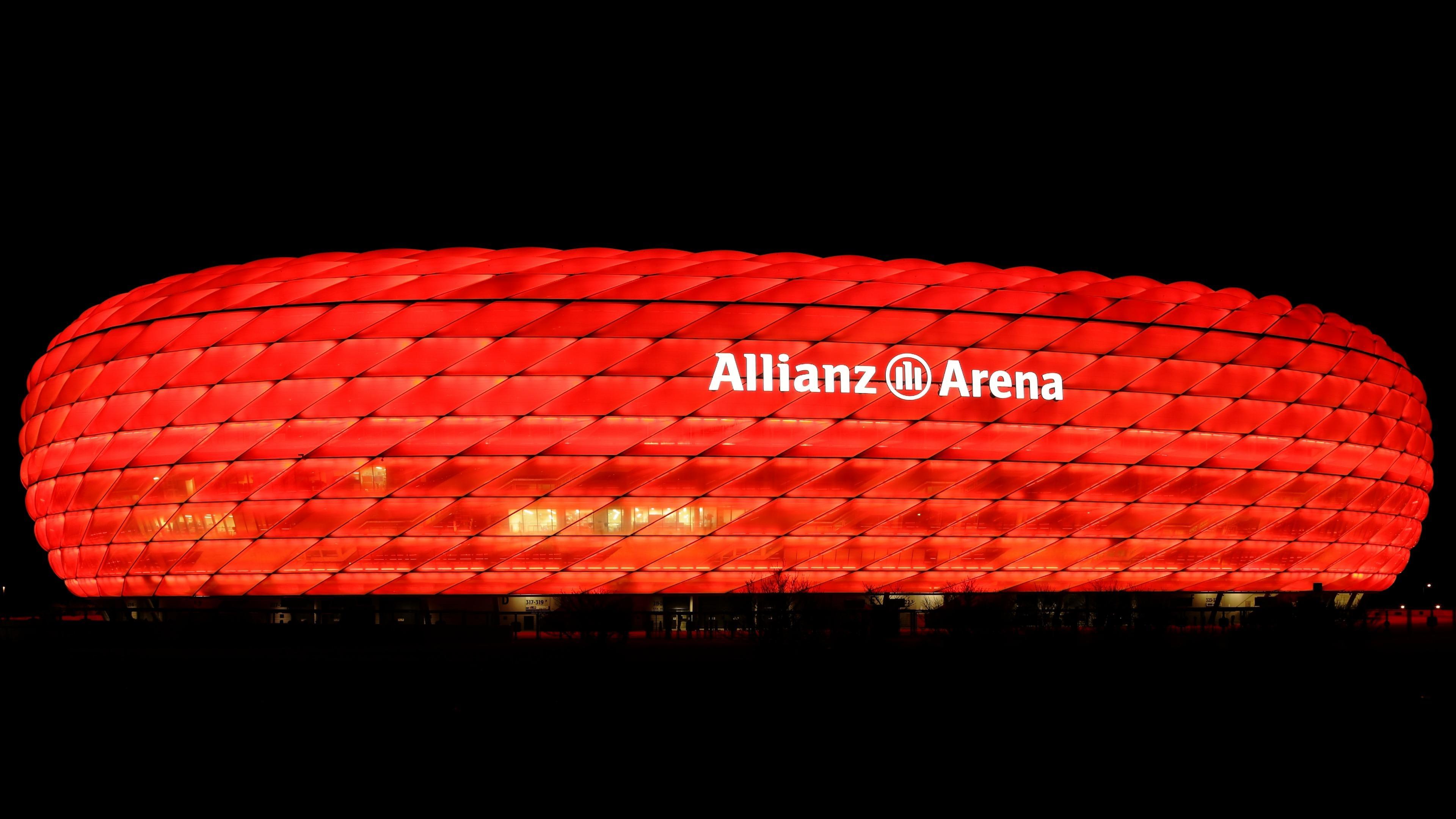 Allianz Arena Red Illumination wallpaper