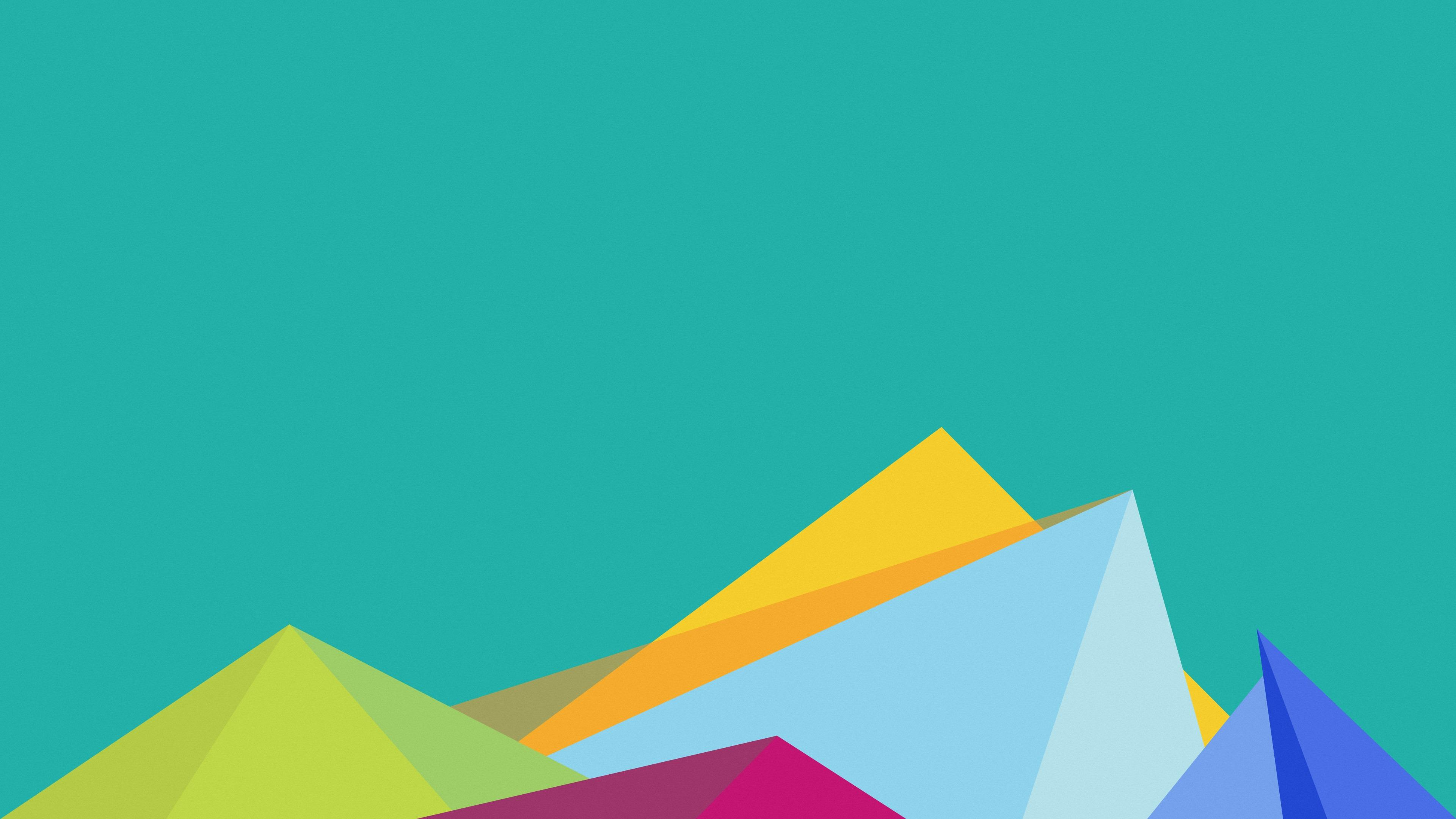Colorful material design minimal art wallpaper