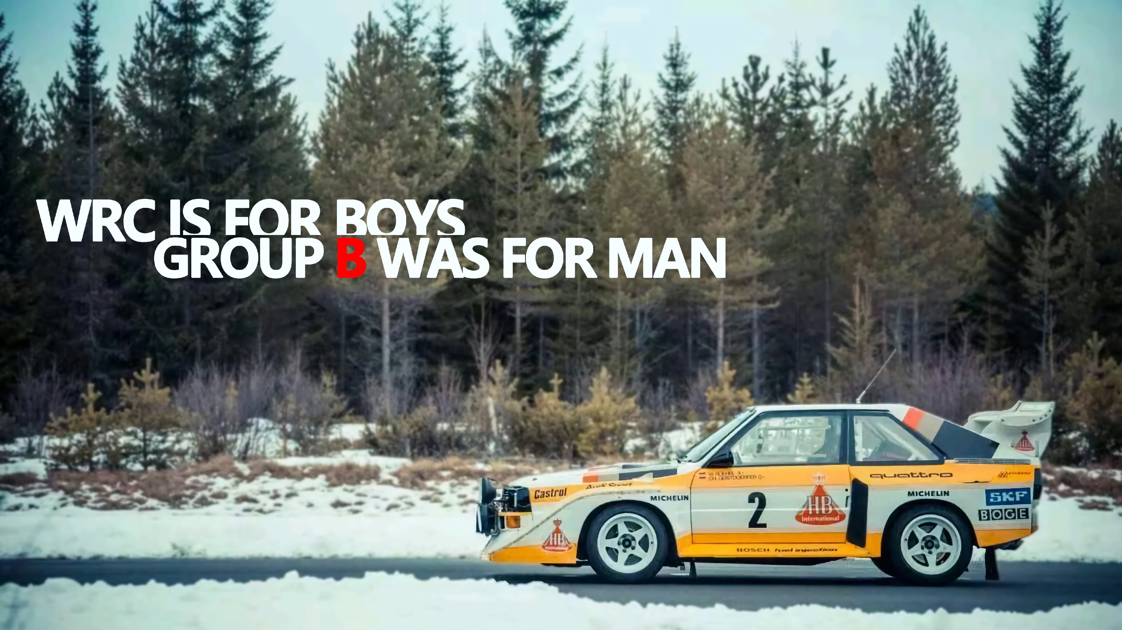 WRC is for boys Group B was for man wallpaper