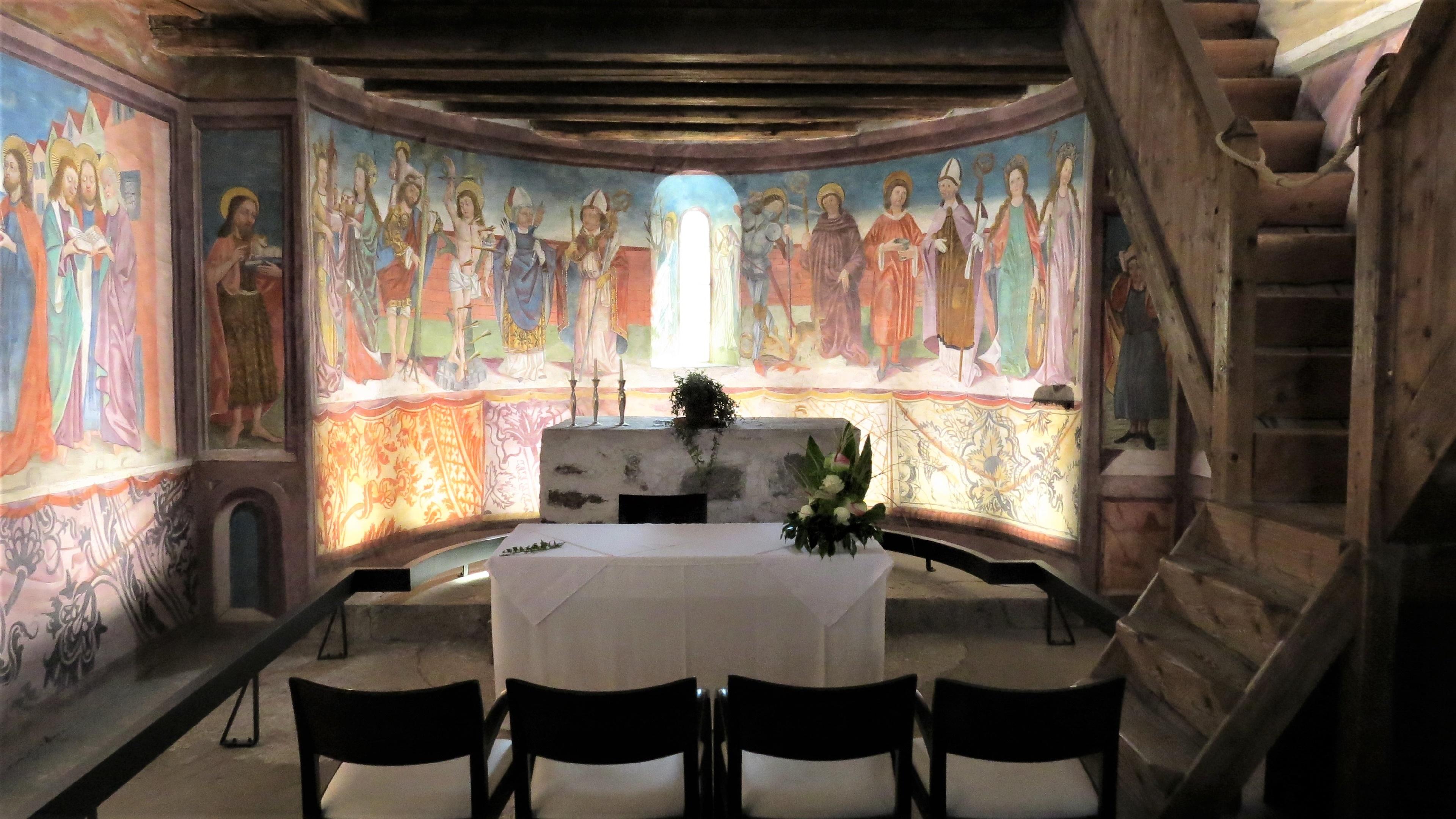 In a chapel wallpaper