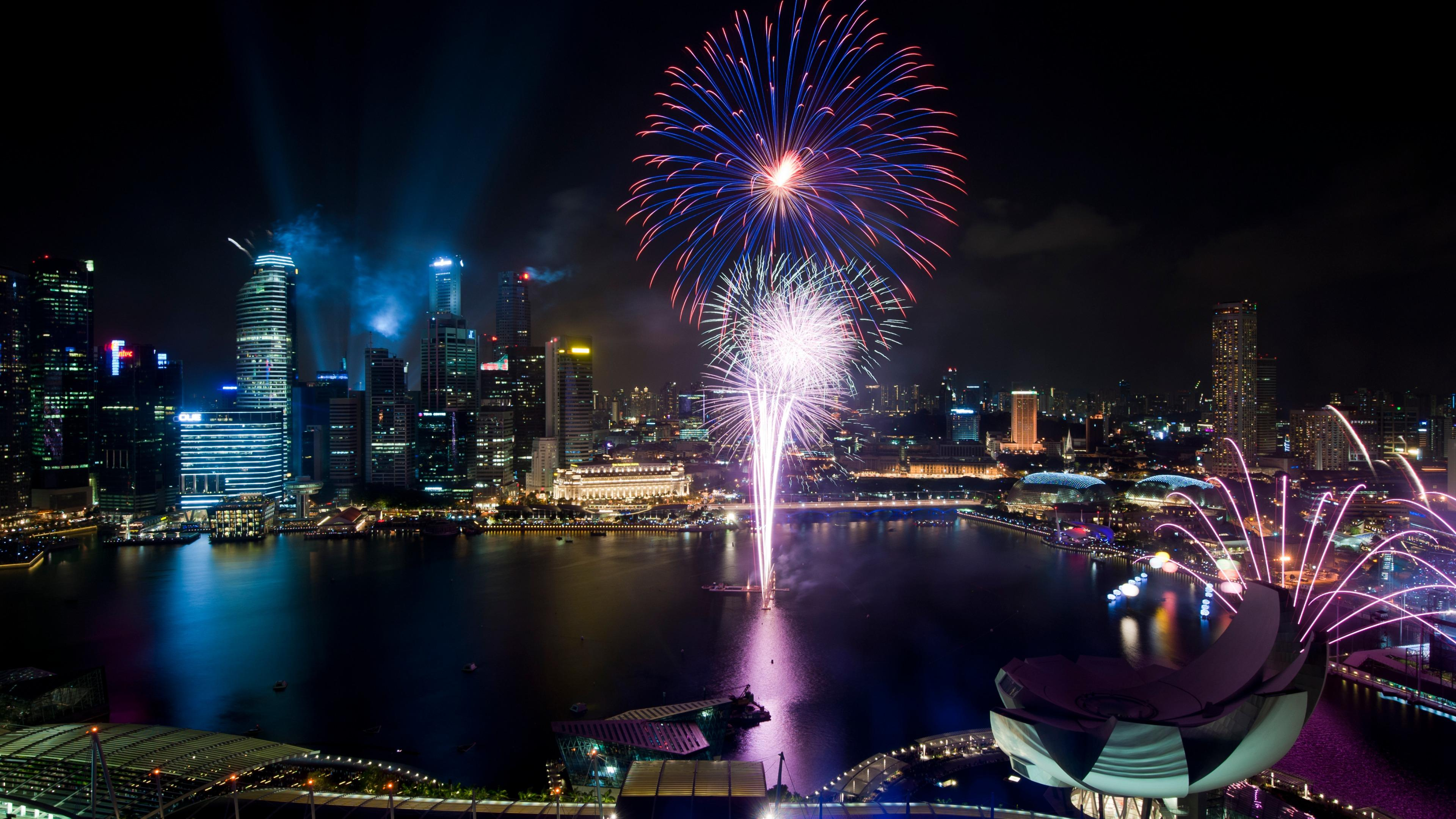 Singapore National Day Parade Fireworks wallpaper