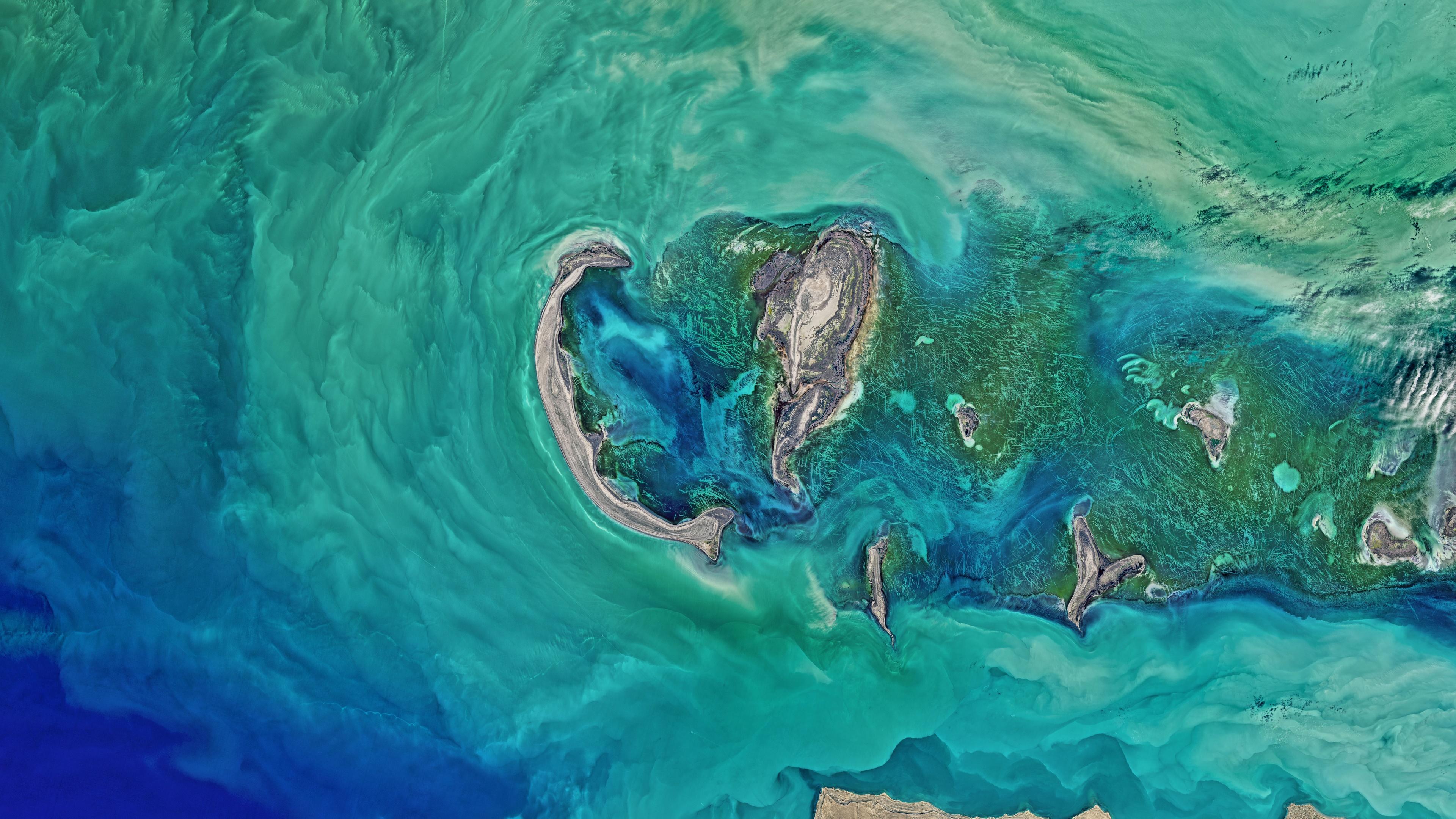 Satellite Eye on Earth: North Caspian Sea wallpaper