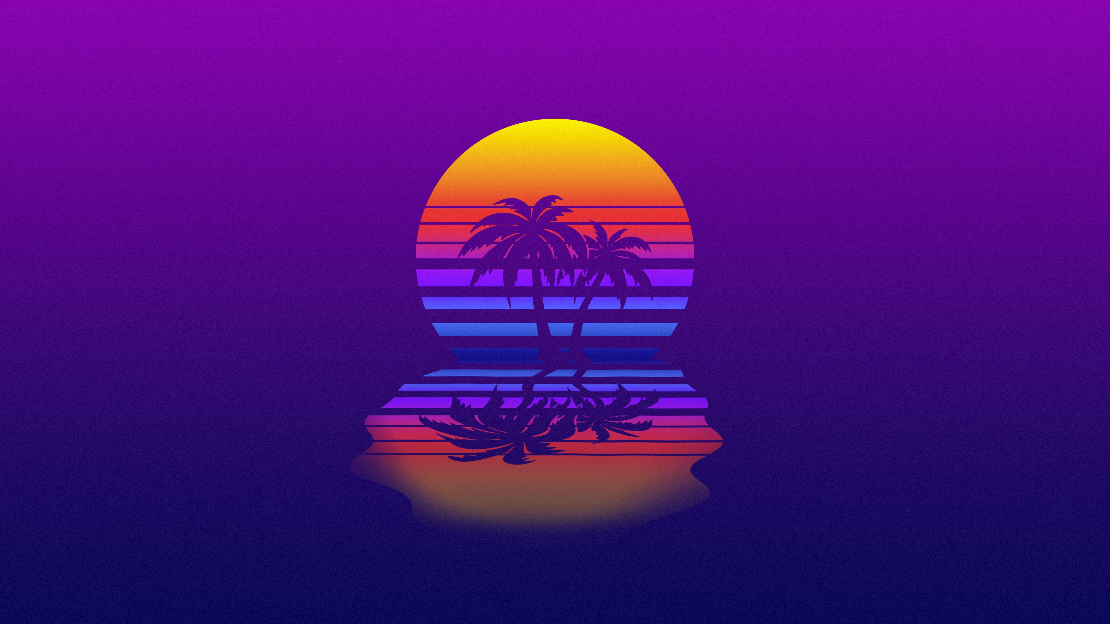 Synthwave palm tree wallpaper