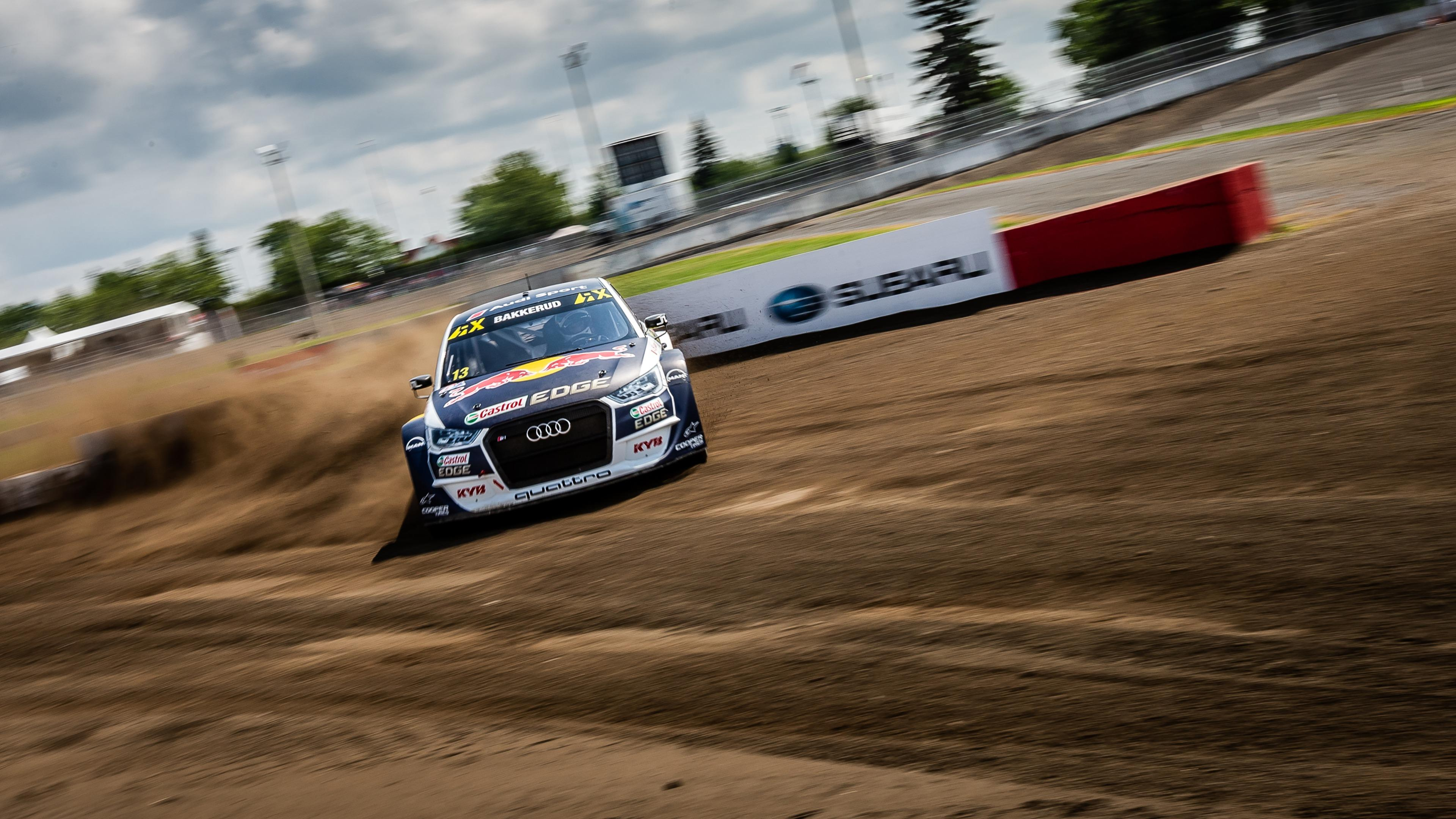 Audi S1 of Andreas Bakkerud at the 2018 World RX of Canada wallpaper