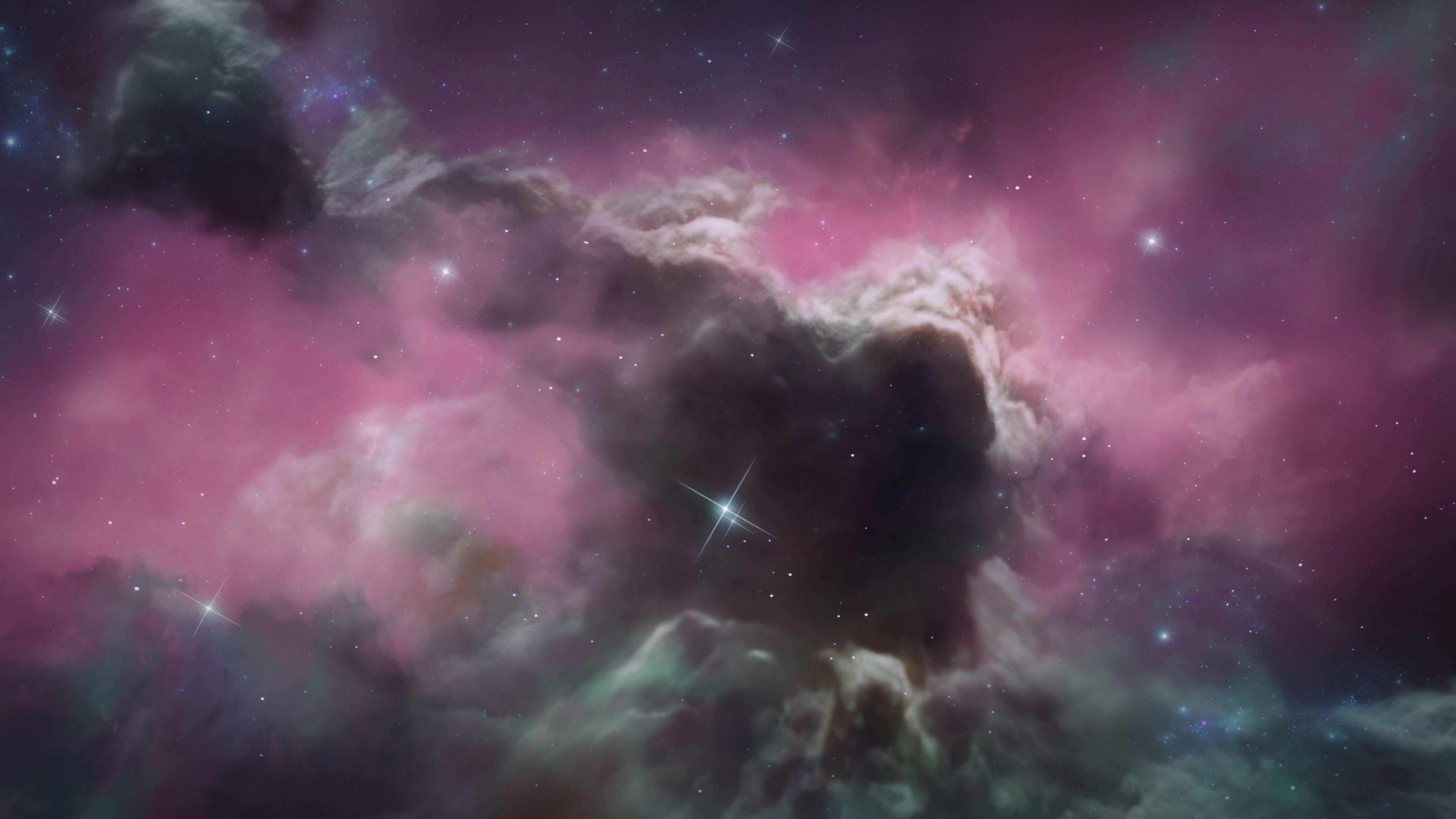 Pink universe wallpaper