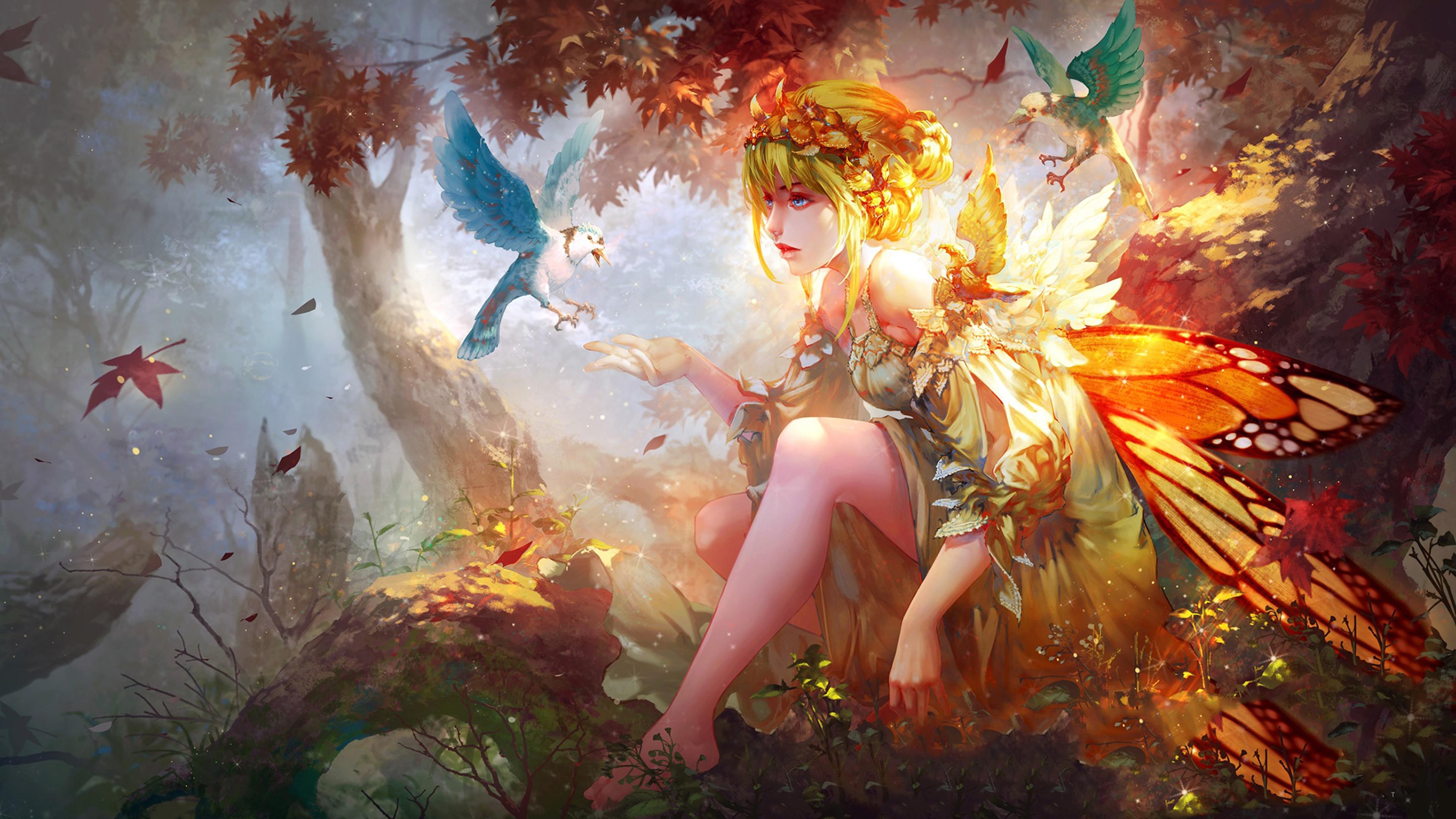 Fairy tale forest wallpaper