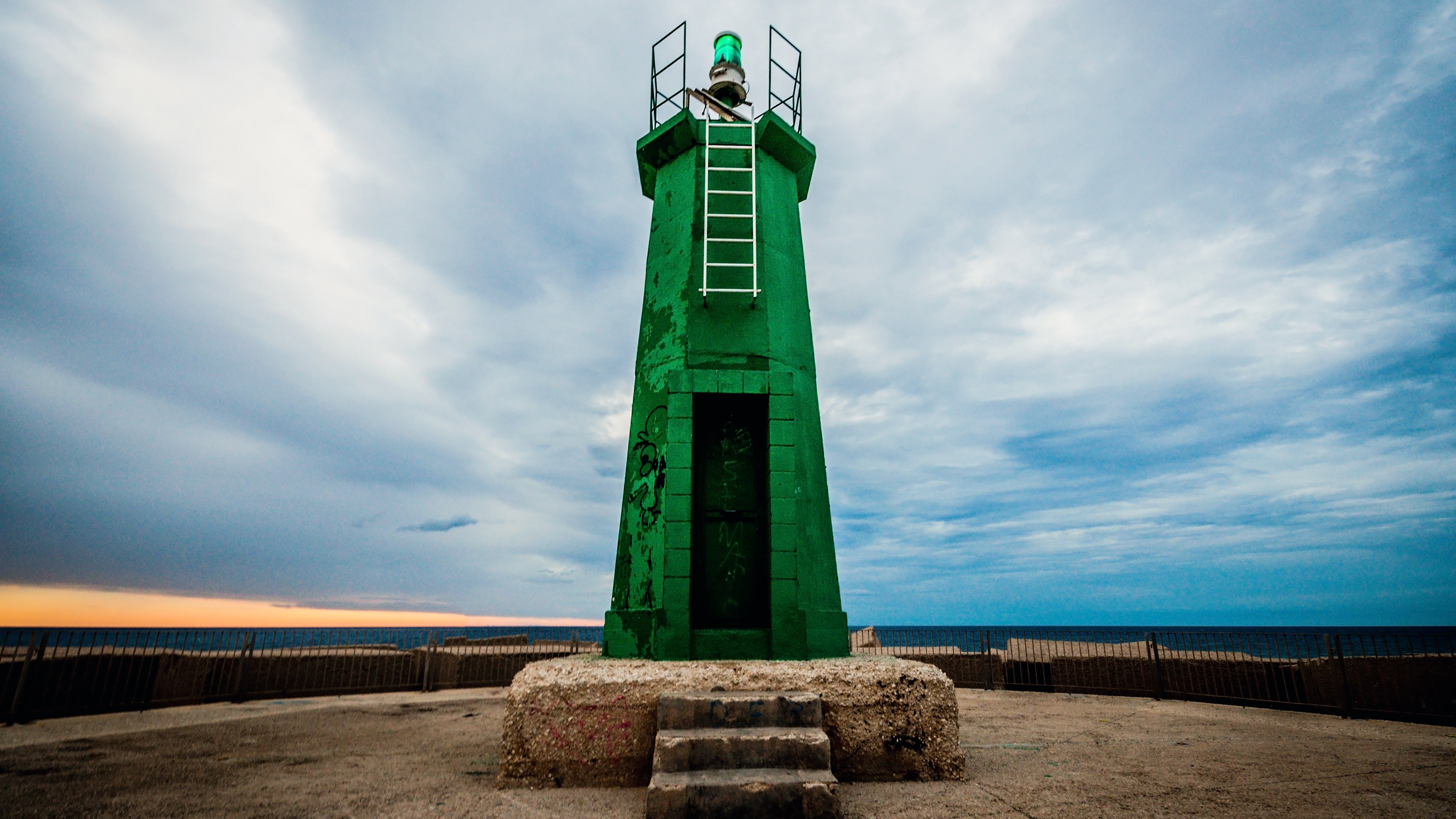 Green Lighthouse at Denia, Alicante, Spain wallpaper