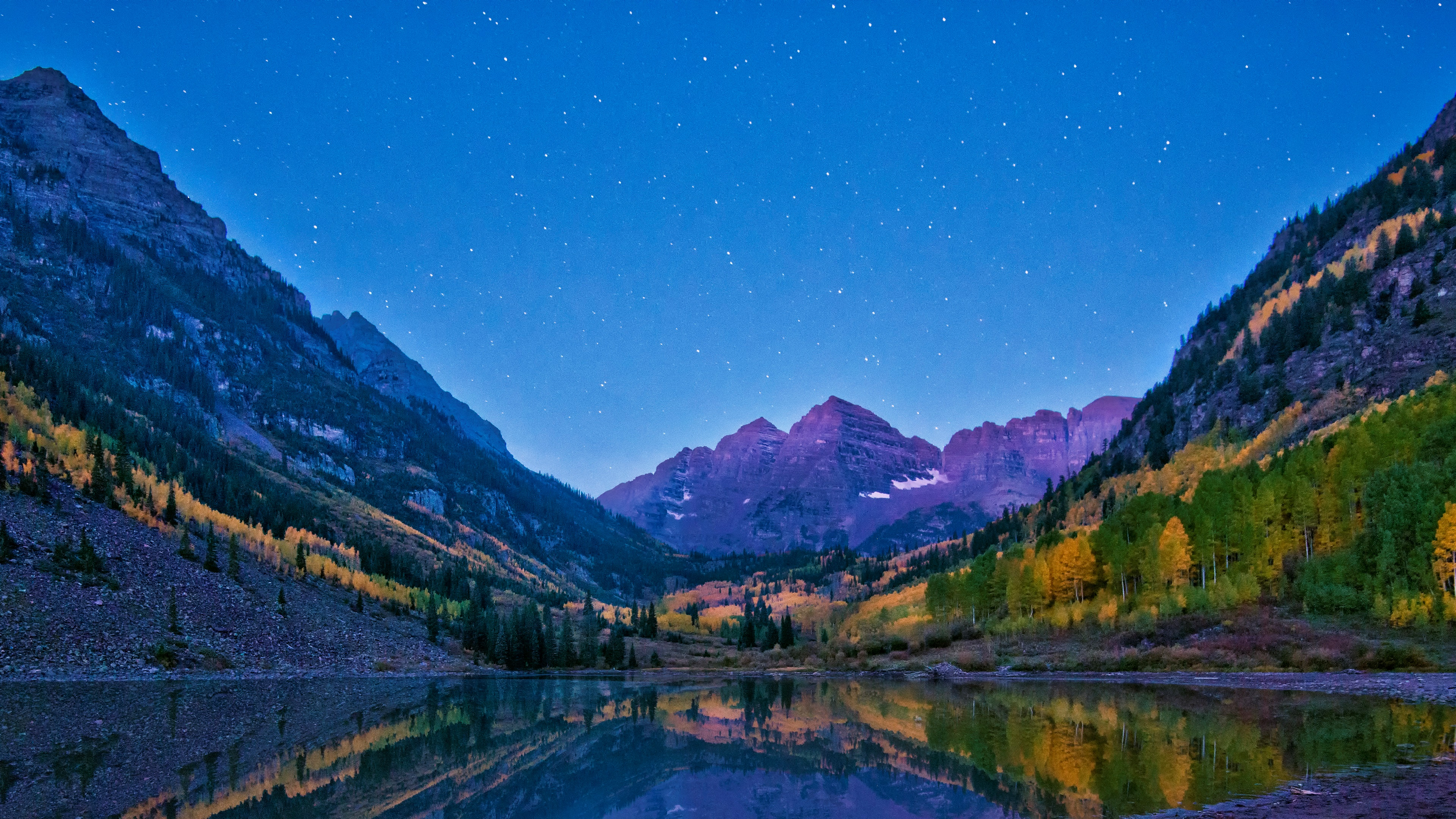 The Maroon Bells and the Crater lake wallpaper