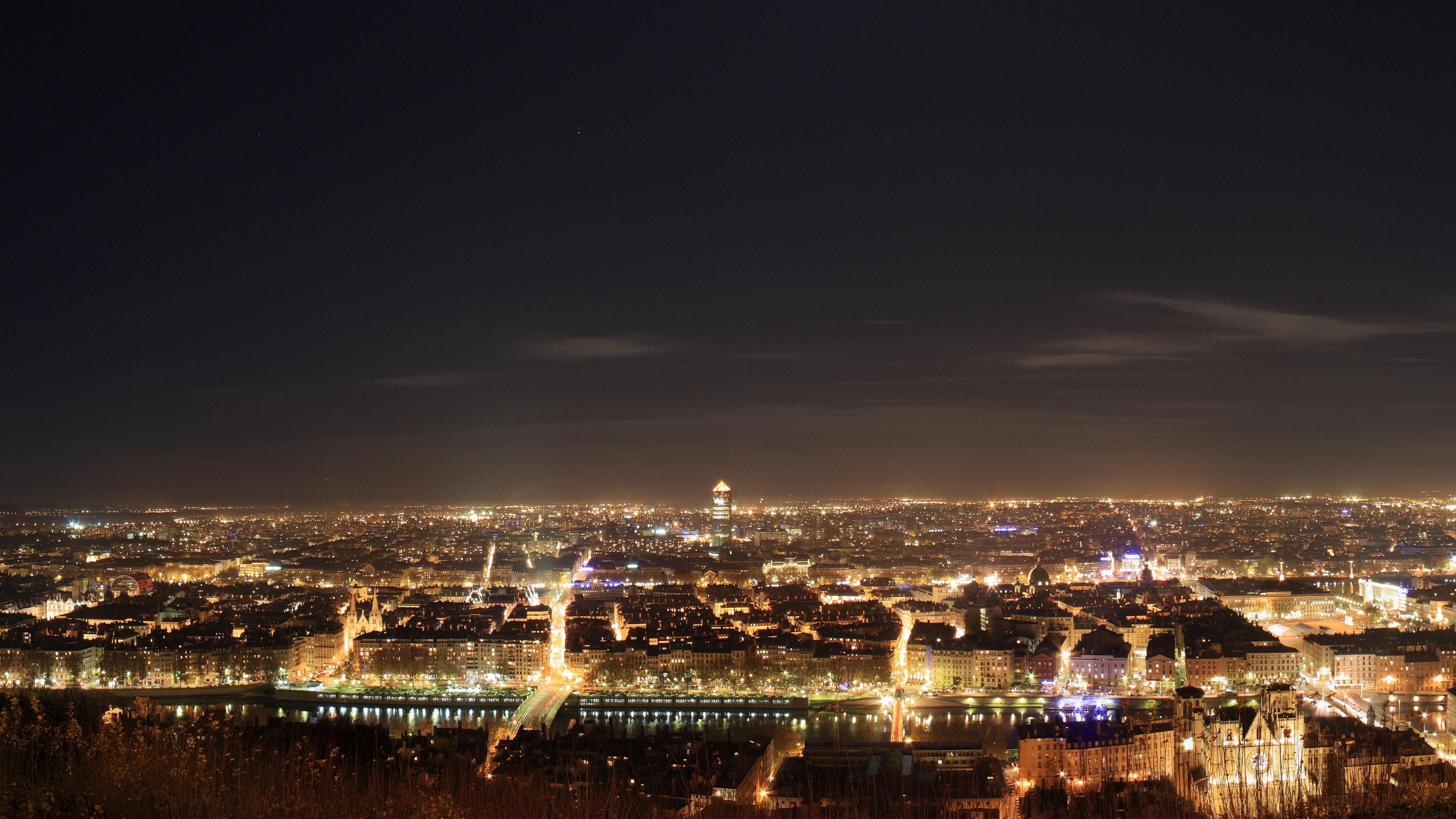 Lyon, France at Night wallpaper