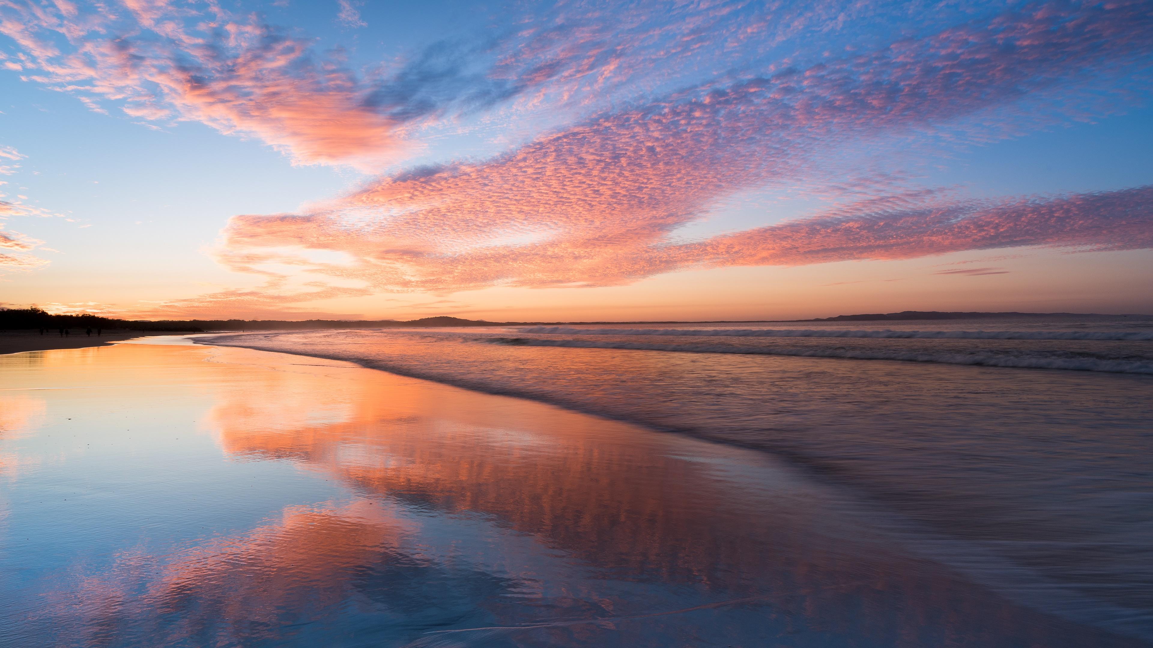 Sunrise reflection wallpaper