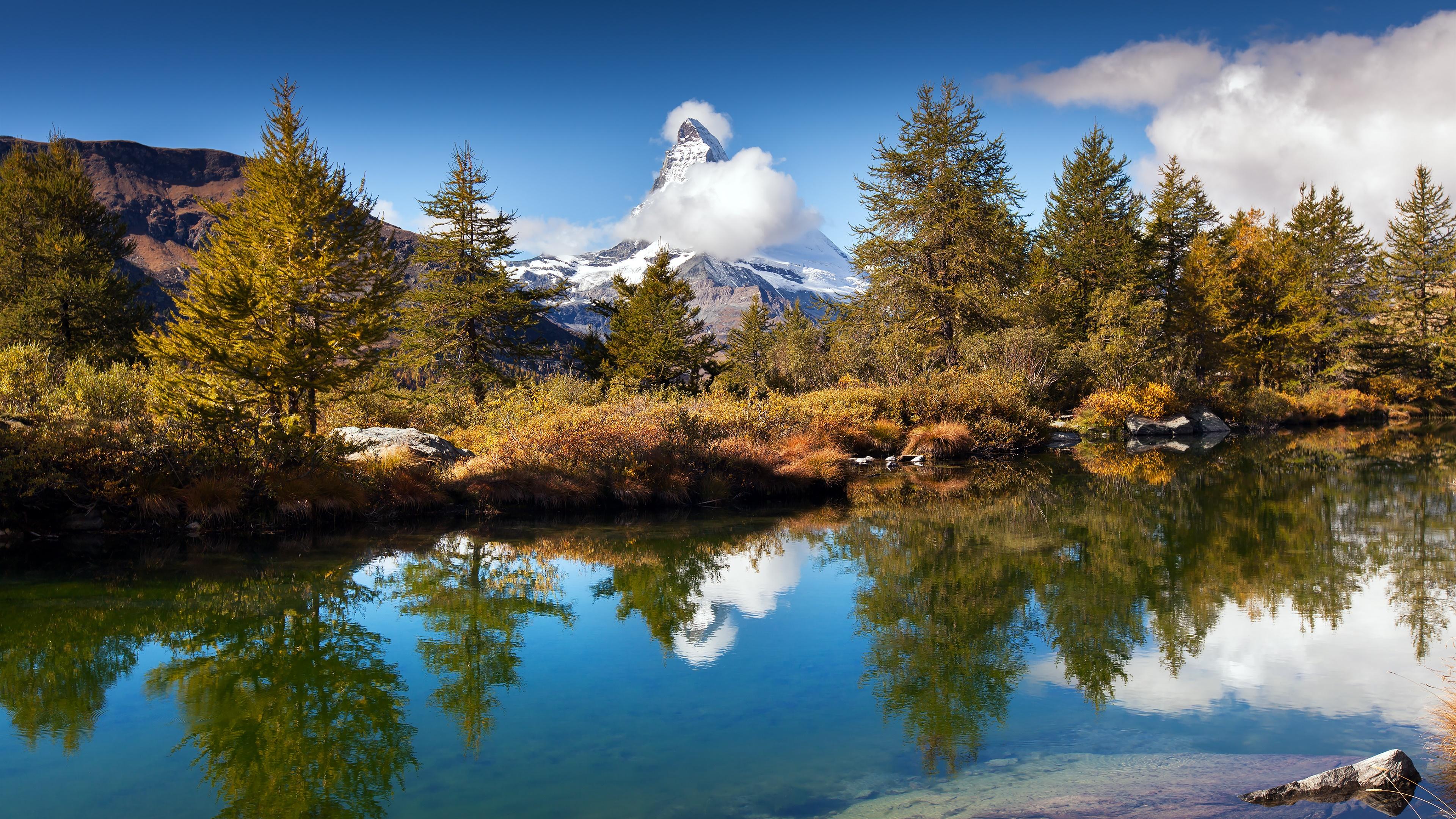 Grindjisee Lake and Matterhorn wallpaper