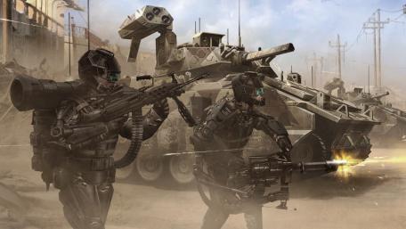 Futuristic army wallpaper