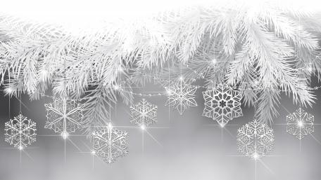 Monochrome Xmas snowflakes wallpaper