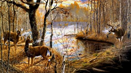 Unspoiled Nature Painting wallpaper