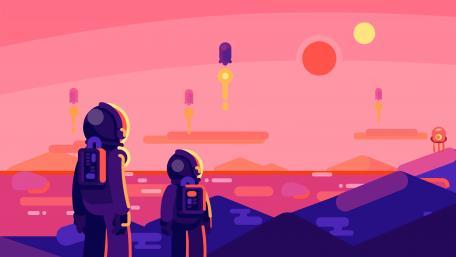 Astronaut Minimal wallpaper